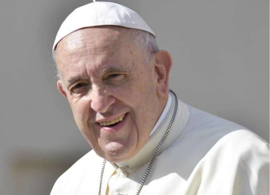 Le pape souriant © Vatican Media