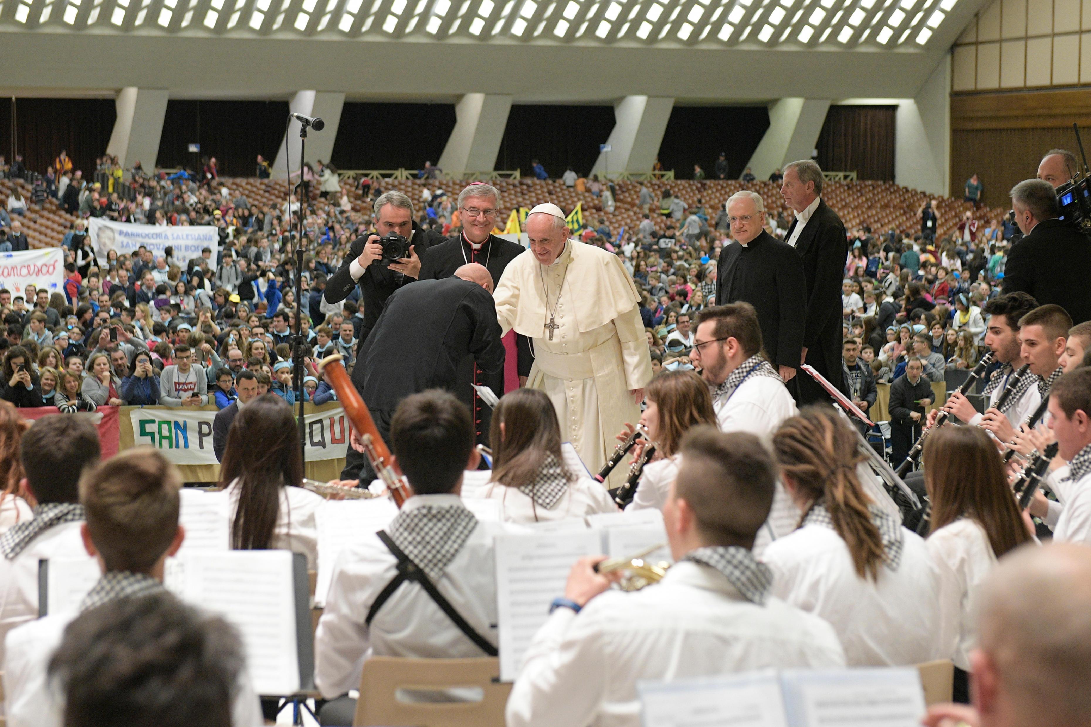 Jeunes du diocèse de Brescia © Vatican Media