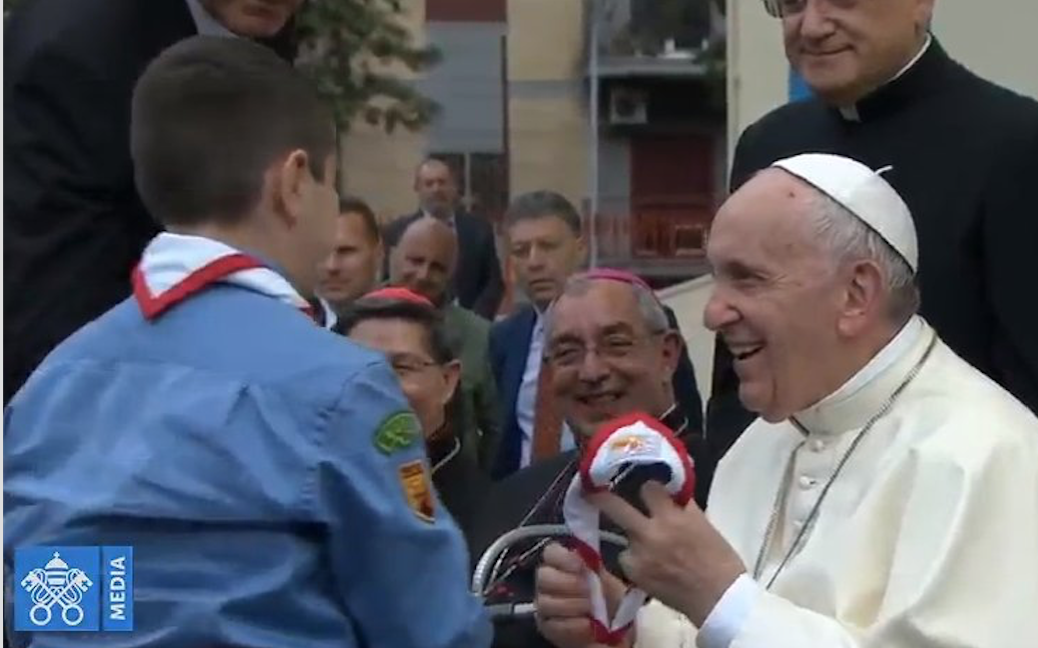 Paroisse du SS. Sacramento, capture @ Vatican Media
