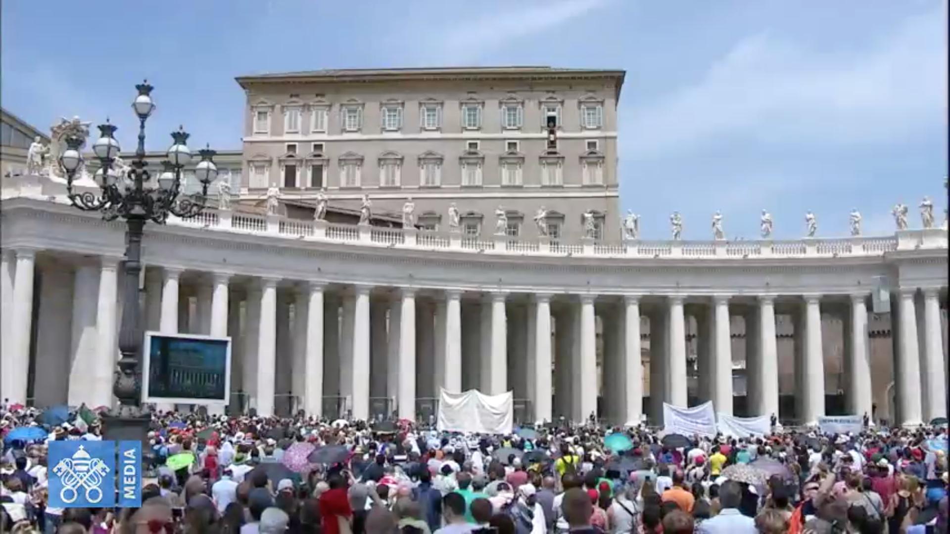 Angélus 27/05/2018, capture @ Vatican Media