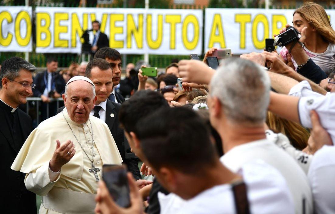 Le pape à la paroisse Santissimo Sacramento de Rome © Vatican News