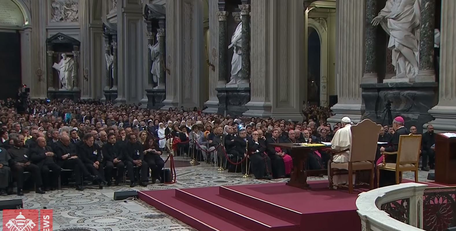 Le pape au diocèse de Rome © Vatican News