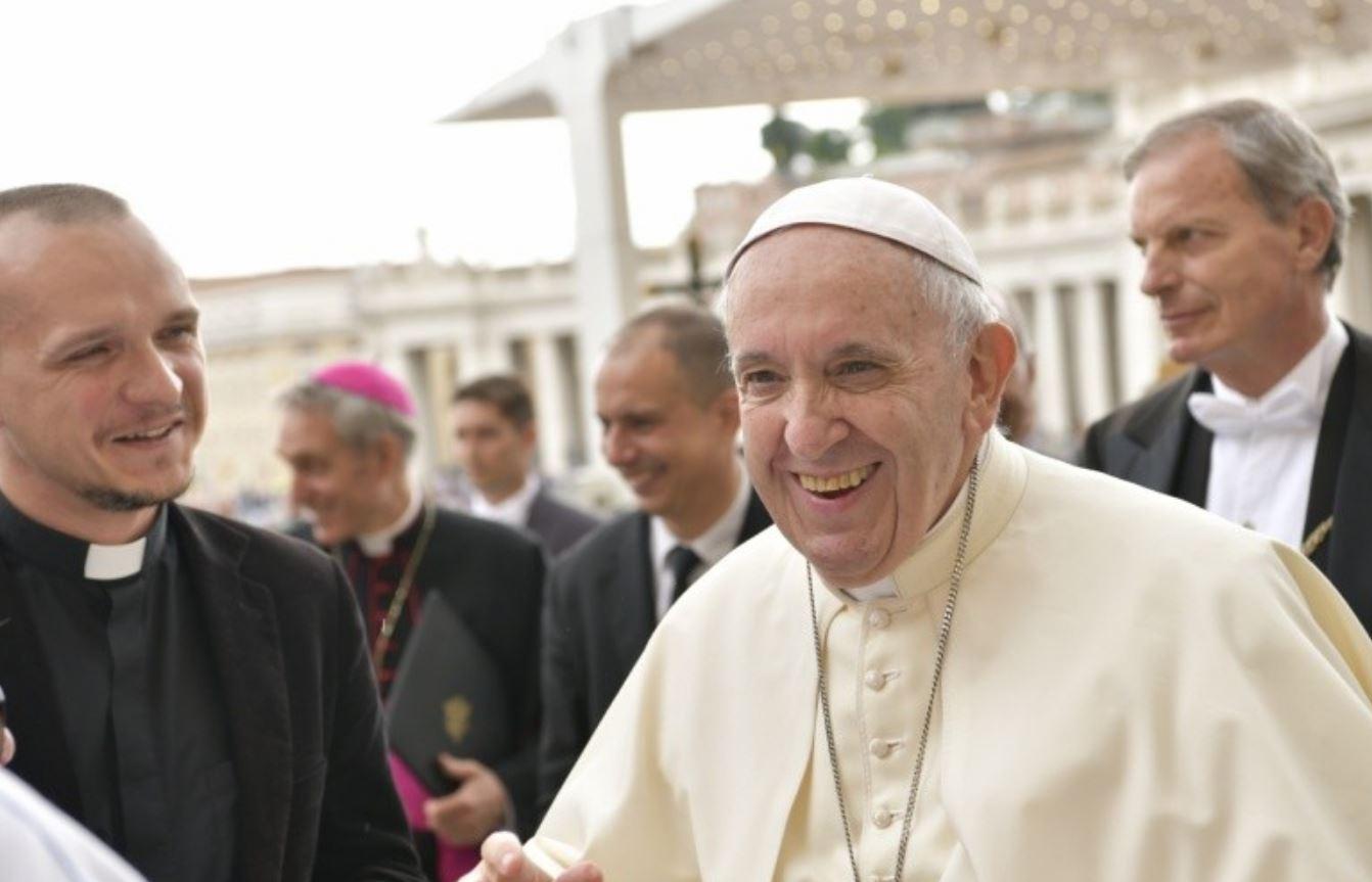 Le pape rit © Vatican Media