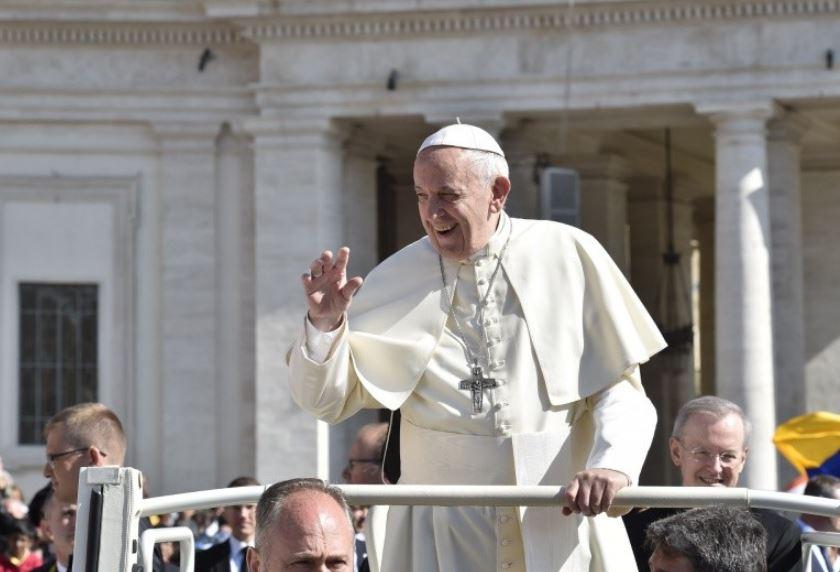 Le pape rit, audience générale du 16 mai 2018 2© Vatican Media