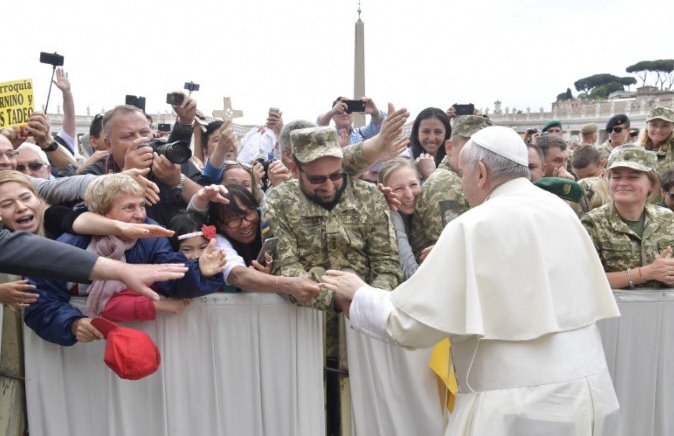 Militaires, audience générale © Vatican Media