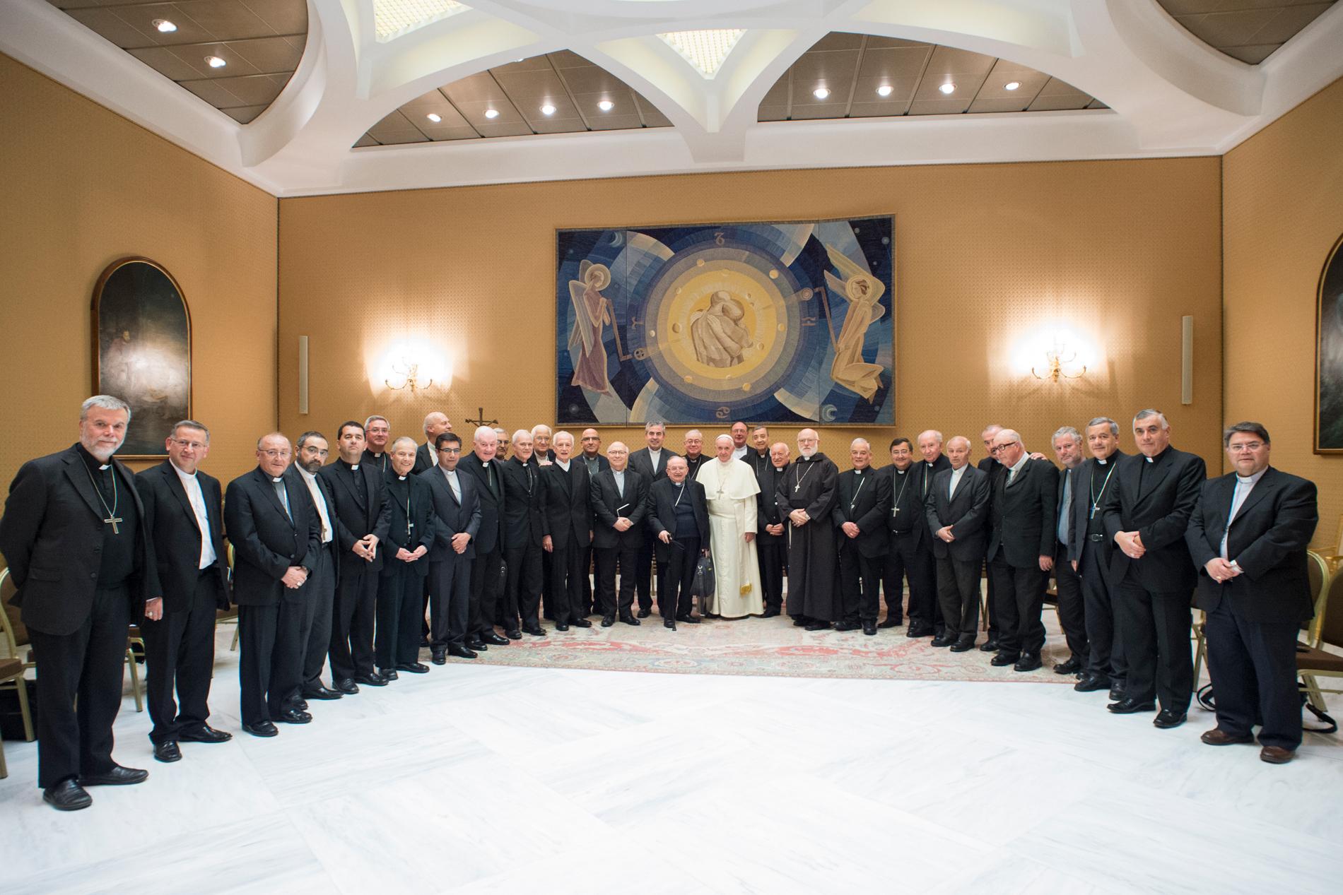 Evêques du Chili © Vatican Media