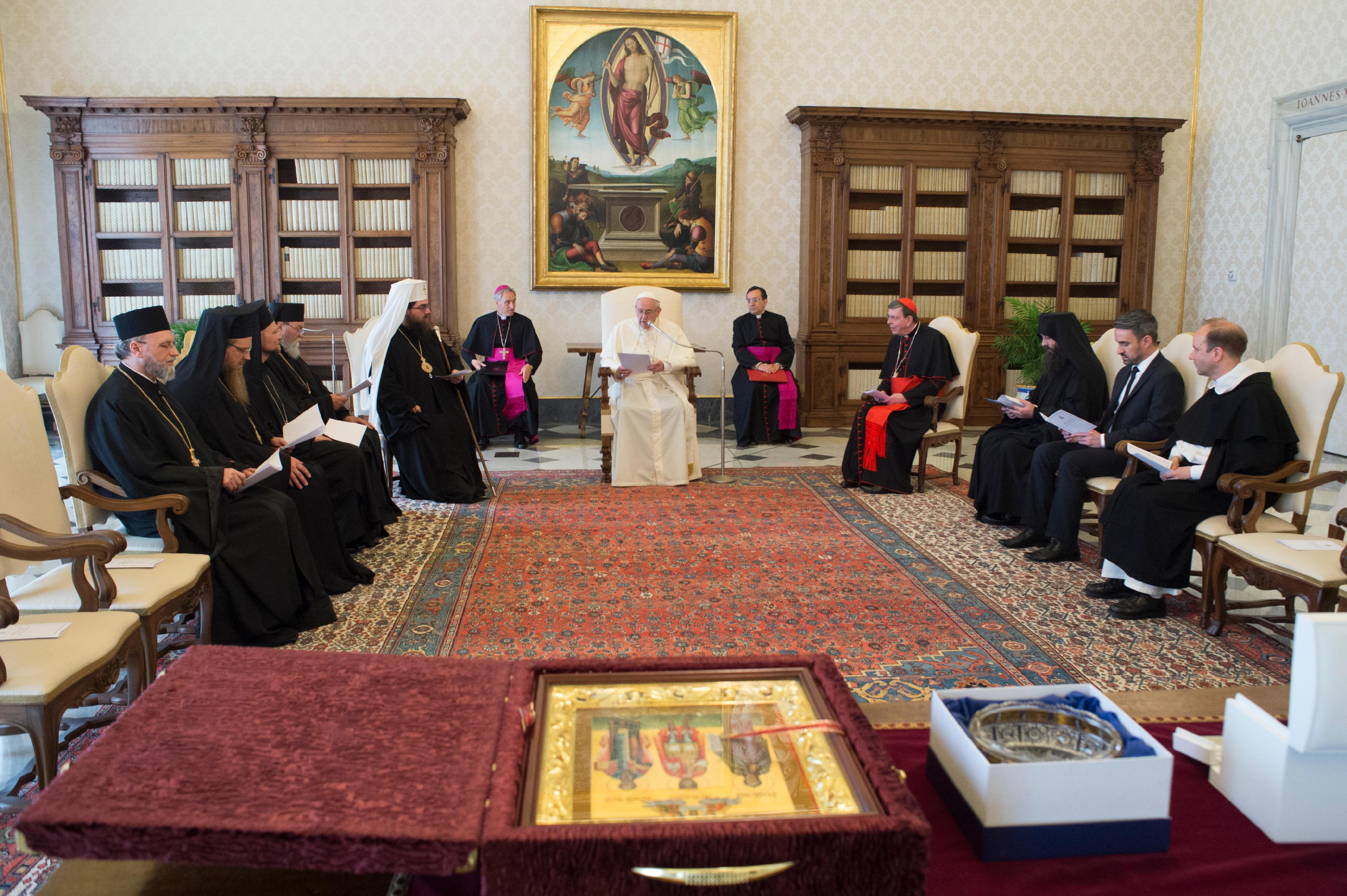 Visite du métropolite Rostislav 11/05/2018 © Vatican Media