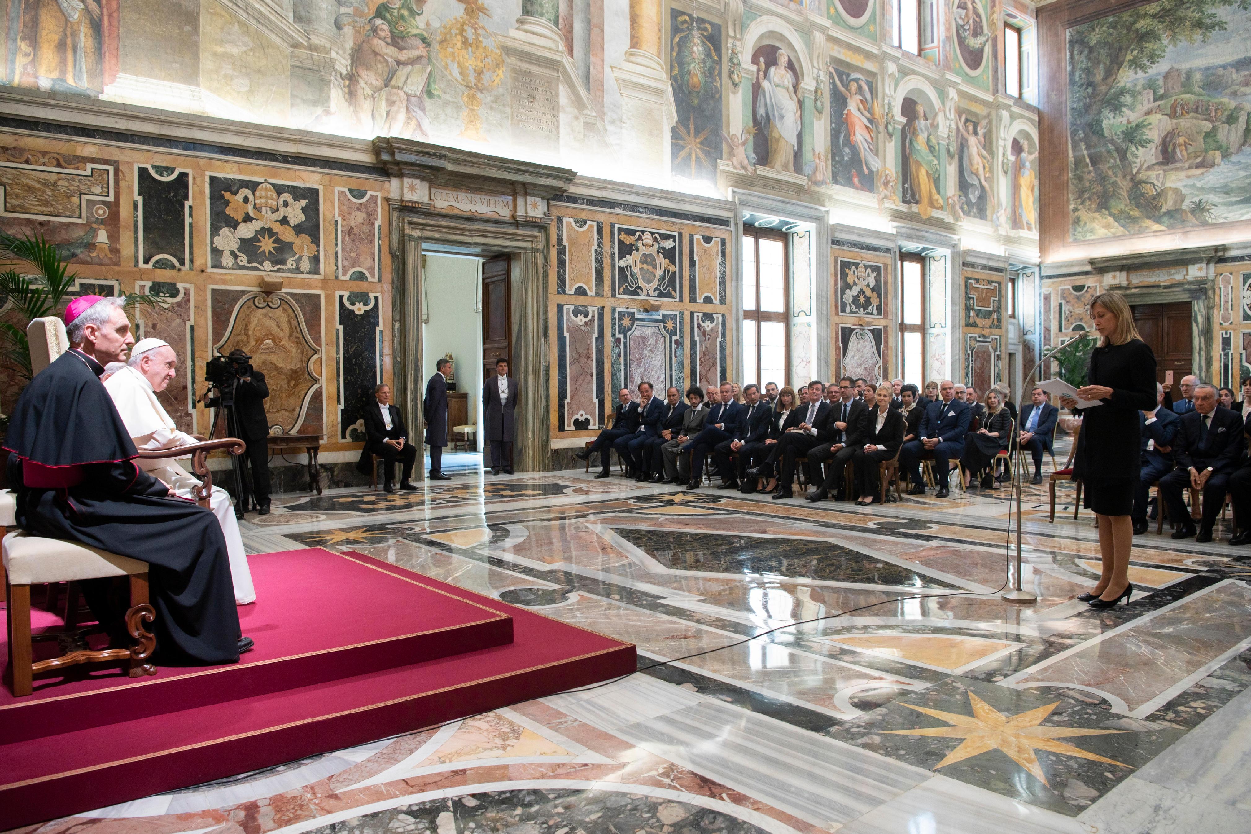 Prix journalistique 4/06/2018 © Vatican Media
