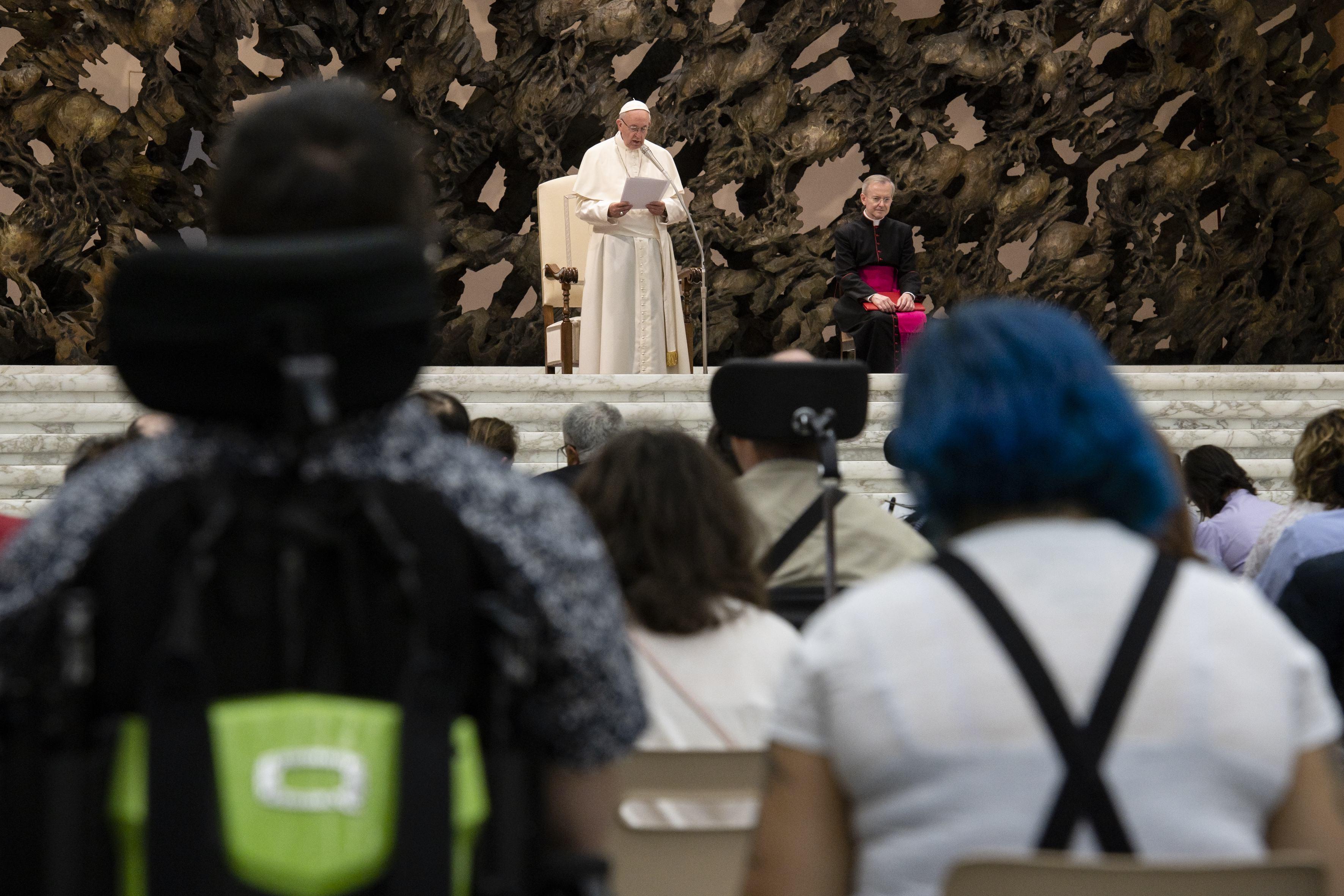 Union italienne de lutte contre la dystrophie musculaire © Vatican Media