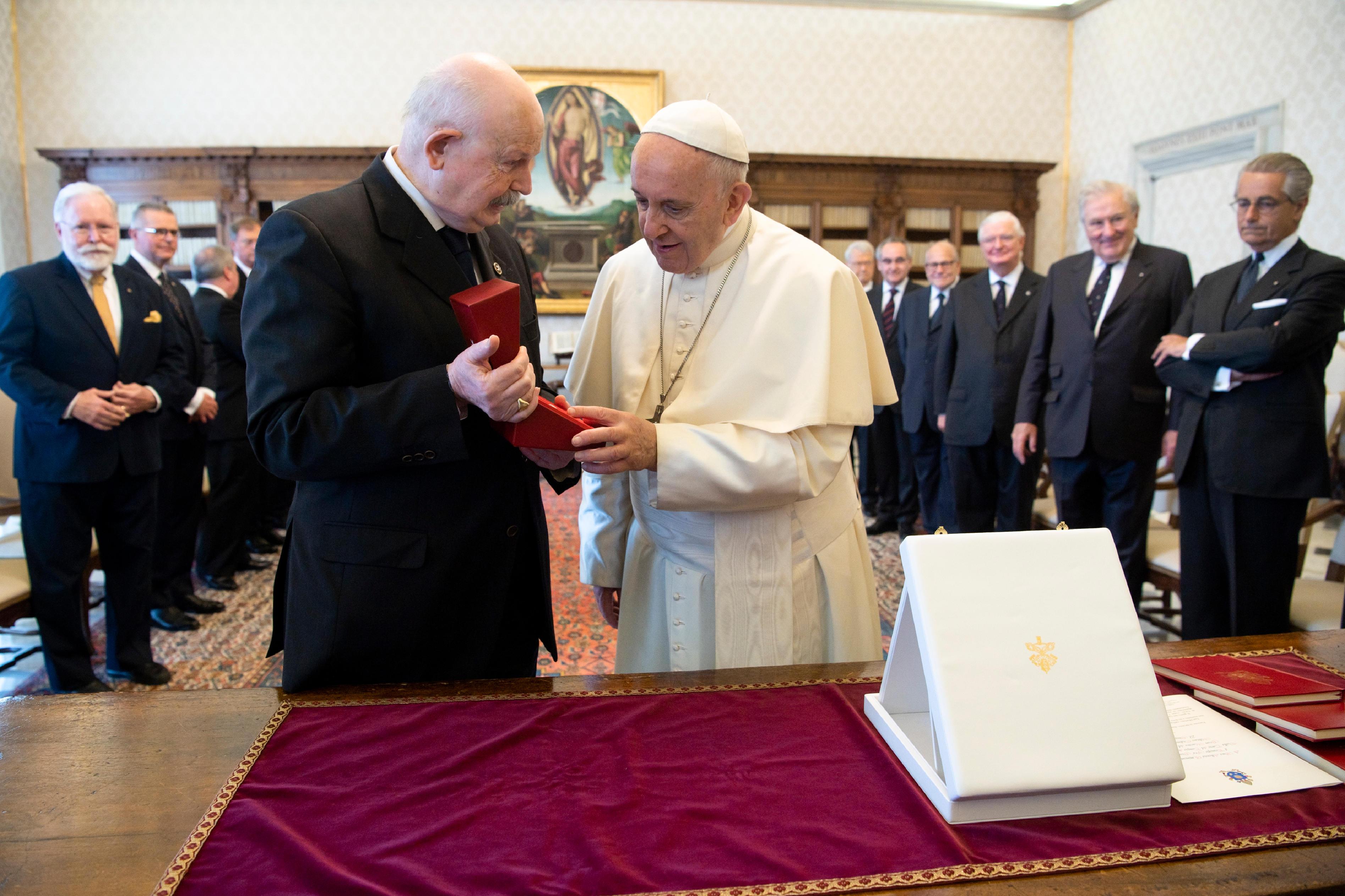 Grand Maître de l'Ordre de Malte 22/6/2018 © Vatican Media