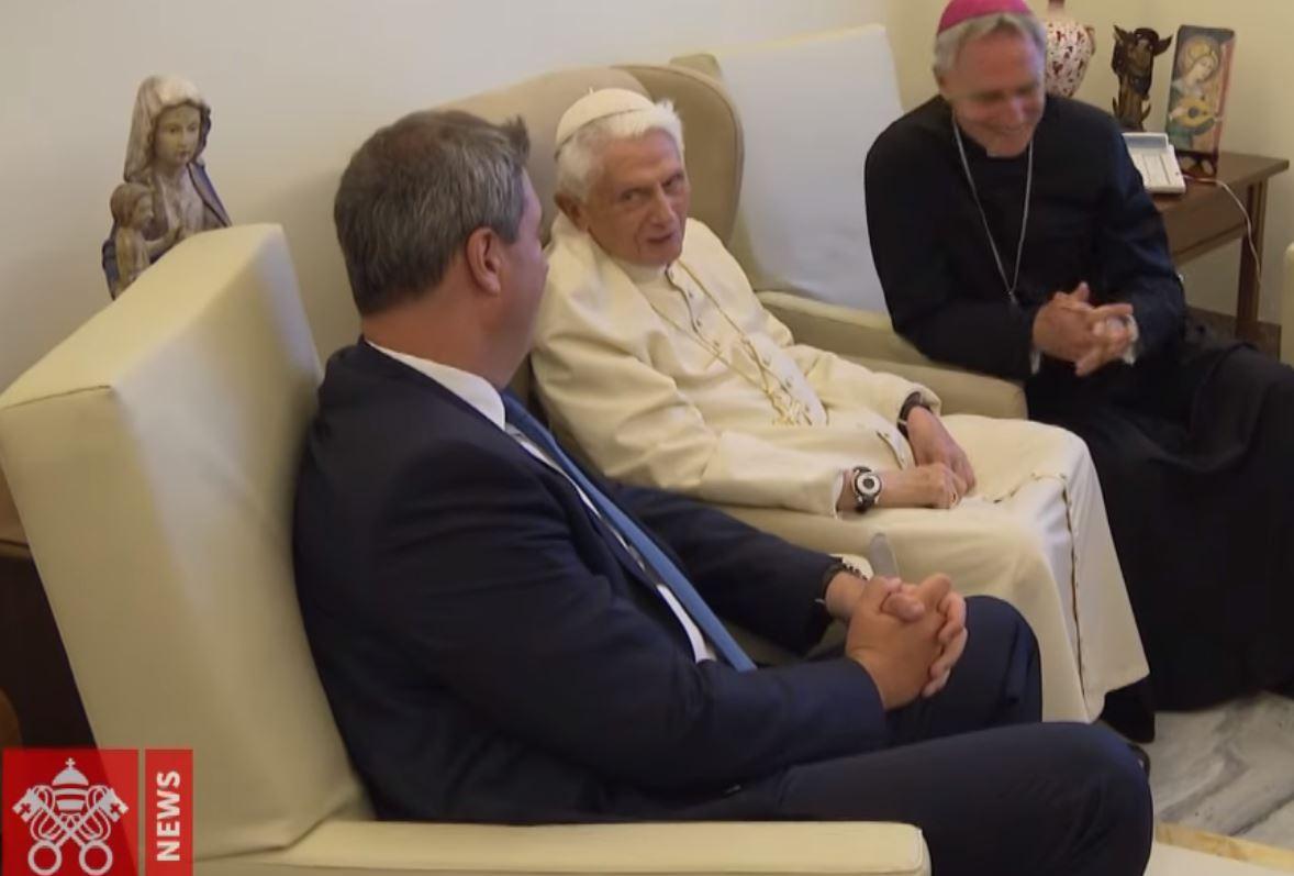 Benoît XVI et Markus Söder, Bavière © Vatican News