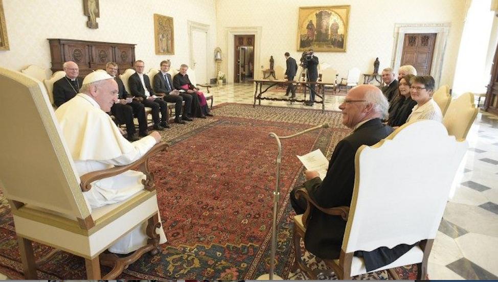 Délégation évangélique 04/06/2018 © Vatican Media