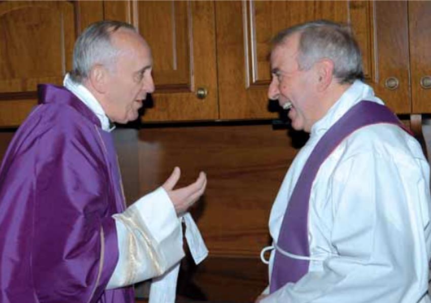 """Le card. Bergoglio et le p. Tantardini, mars 2009 @ """"30 Jours"""""""