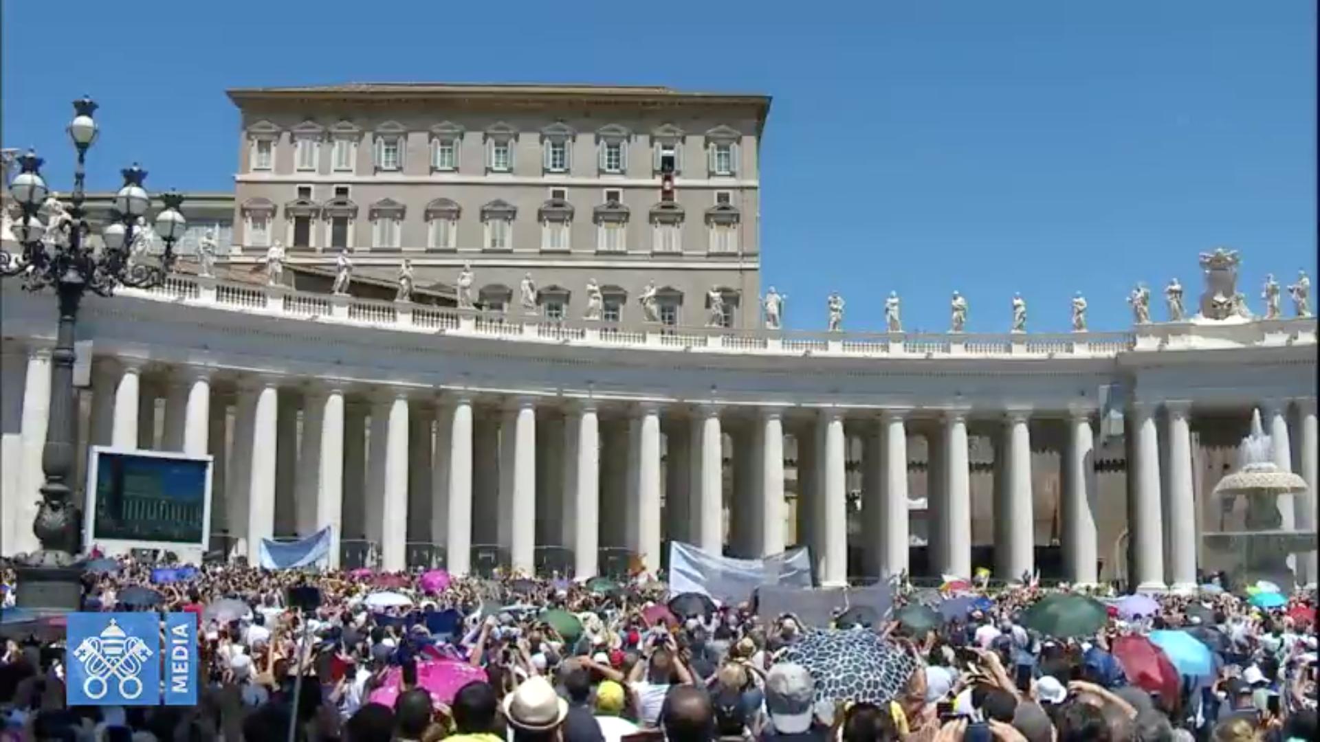 Angélus 10/6/2018 capture @ Vatican Media