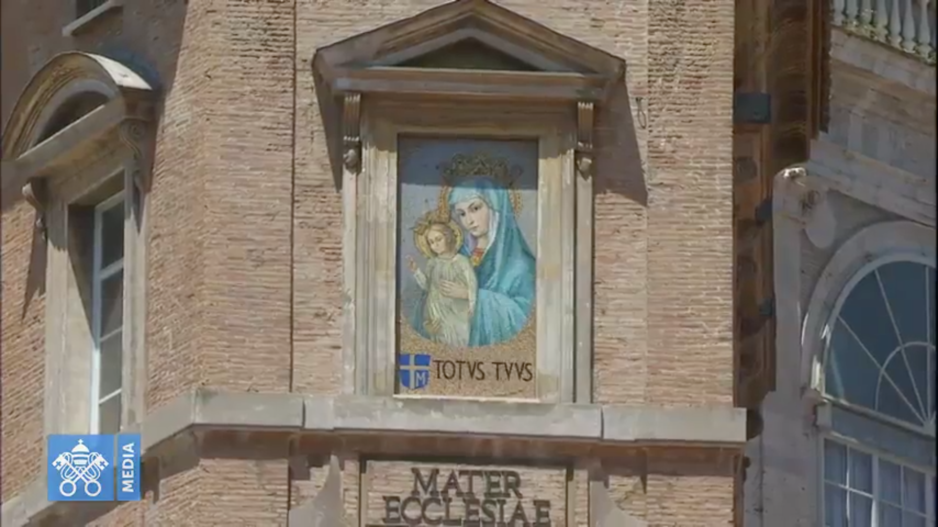 Marie Mater Ecclesiae Angélus 10/6/2018 capture @ Vatican Media