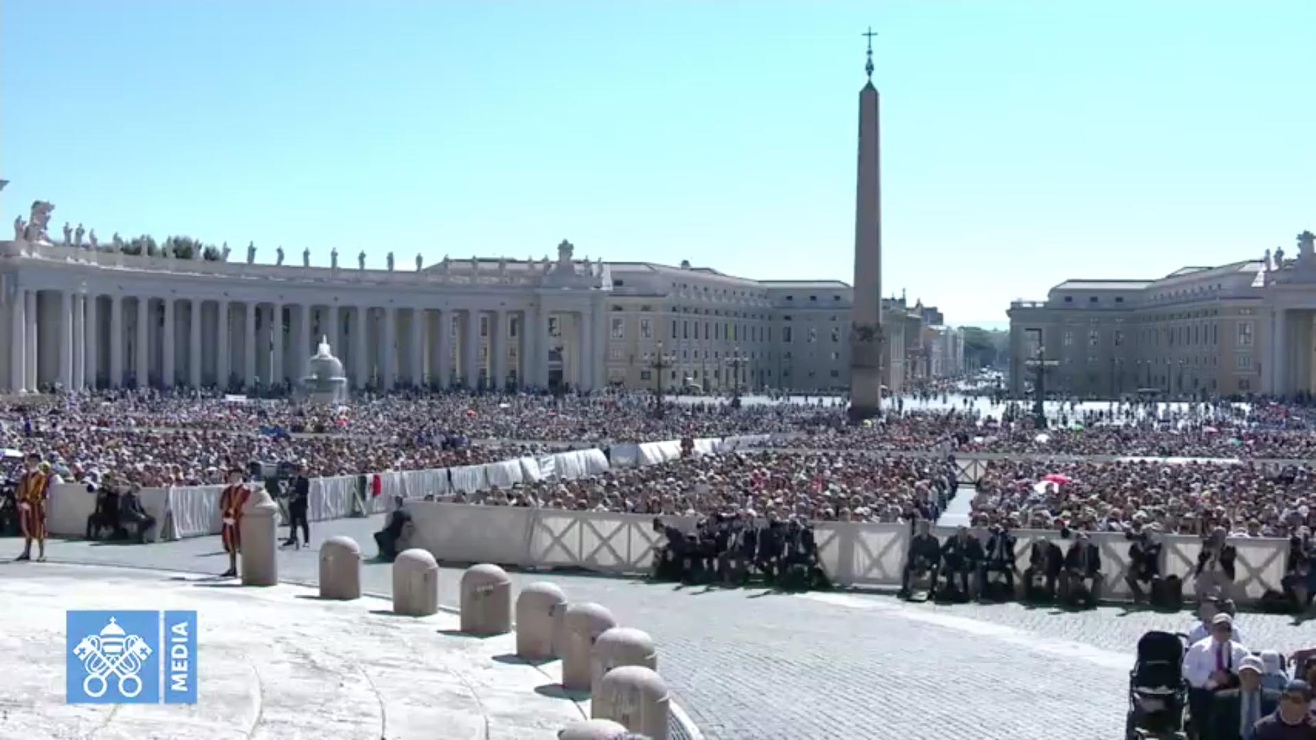 Audience 27/6/2018 capture @ Vatican Media