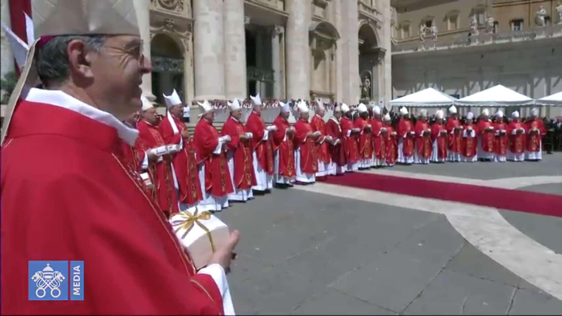 26 archevêques reçoivent le pallium 29/6/2018 capture @Vatican Media
