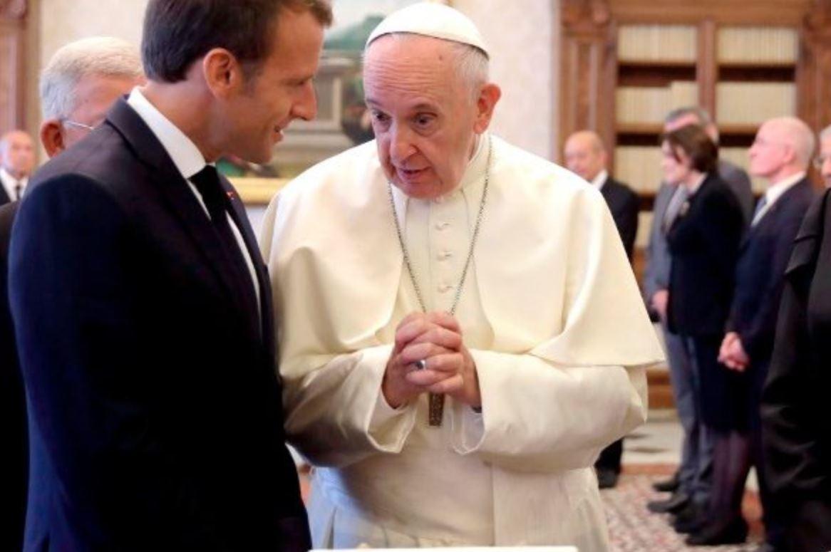 Emmanuel Macron au Vatican © Vatican News