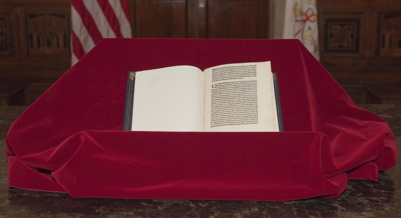 Lettre incunable de Christophe Colomb @Ambassade des Etats-Unis près le Saint-Siège