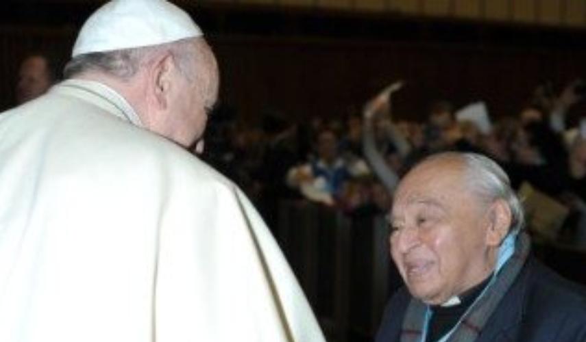 Le pape François et le p. Gutierrez, fondateur de la théologie de la libération