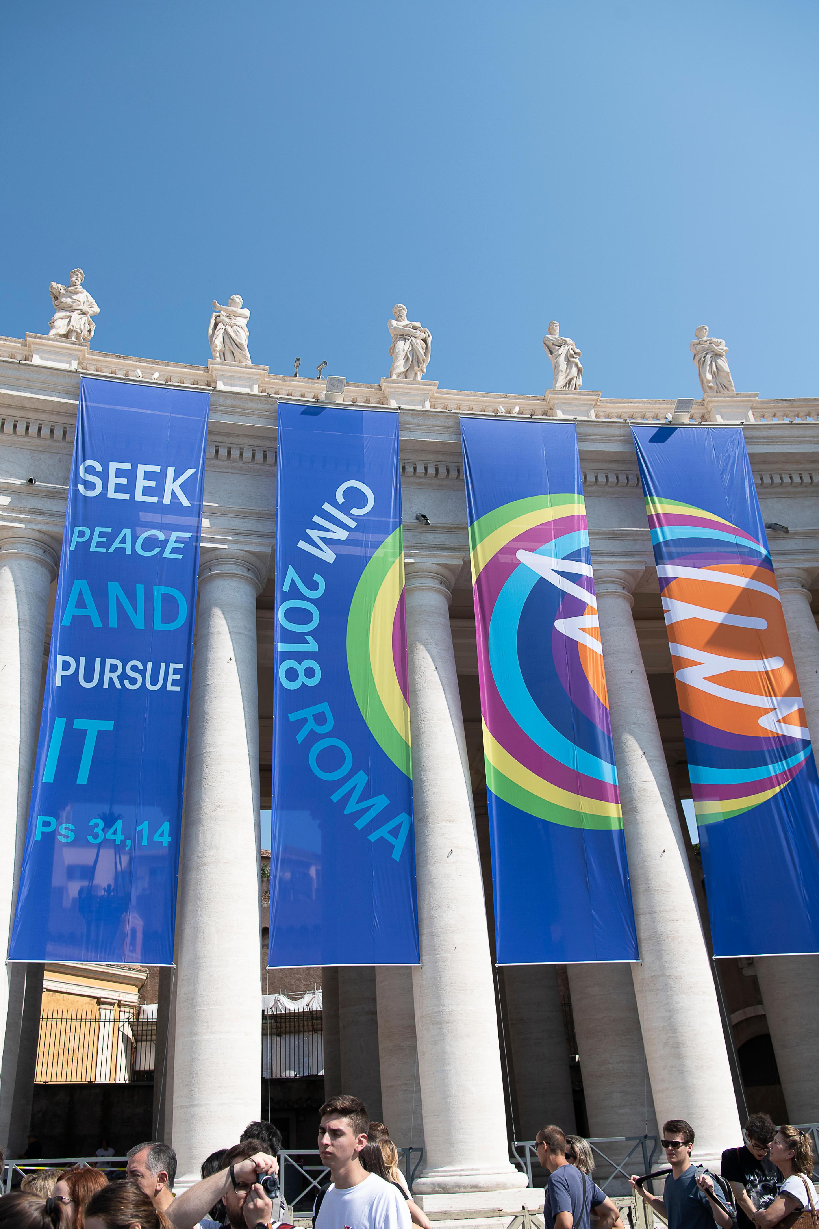 La paix, thème du rassemblement des servants de messe à Rome 2018 © Vatican Media