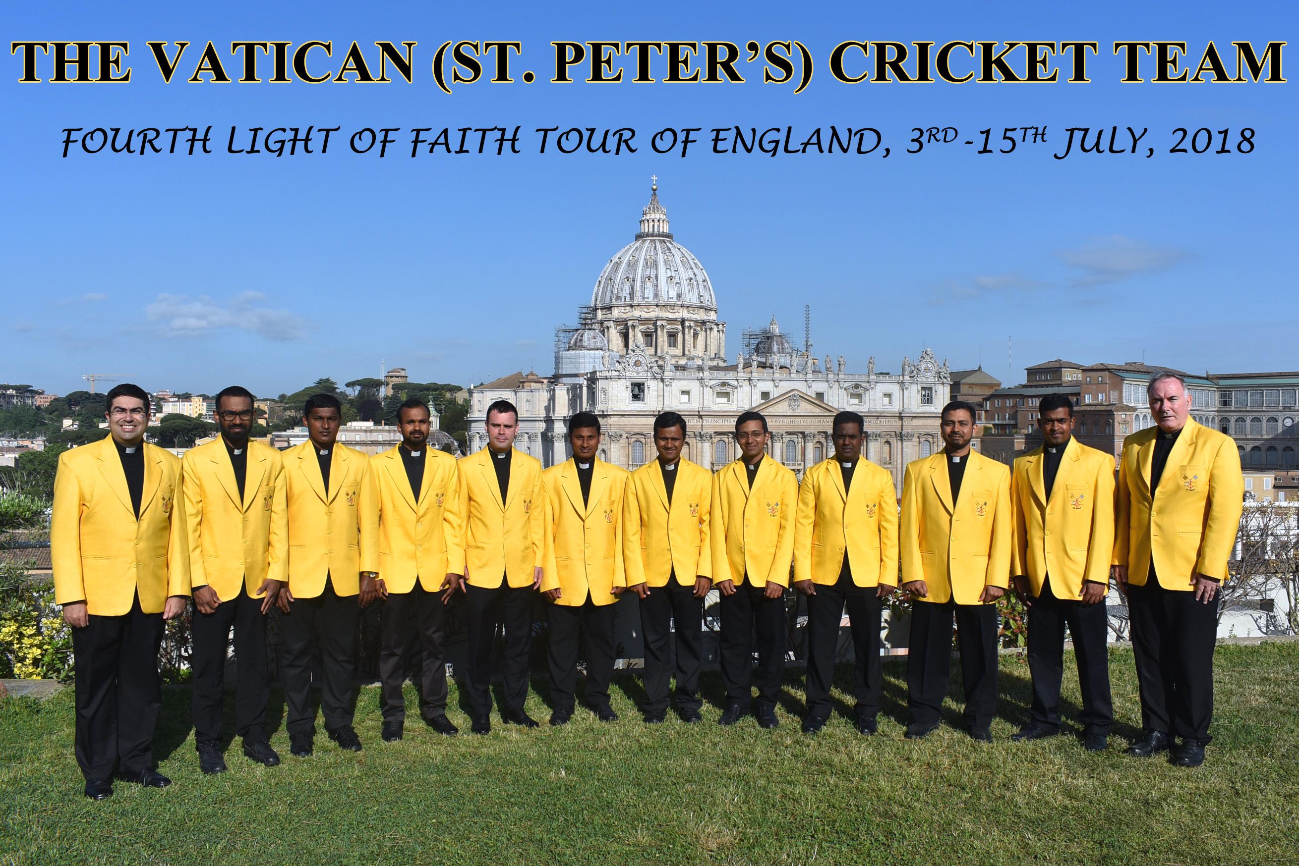 Equipe de cricket du Vatican 2018 @VaticanCricket