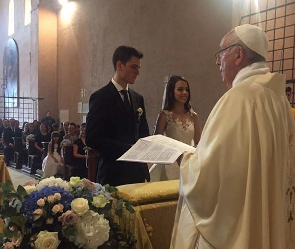 Mariage de Luca Schafer et Letícia Vera @padreomaroficial