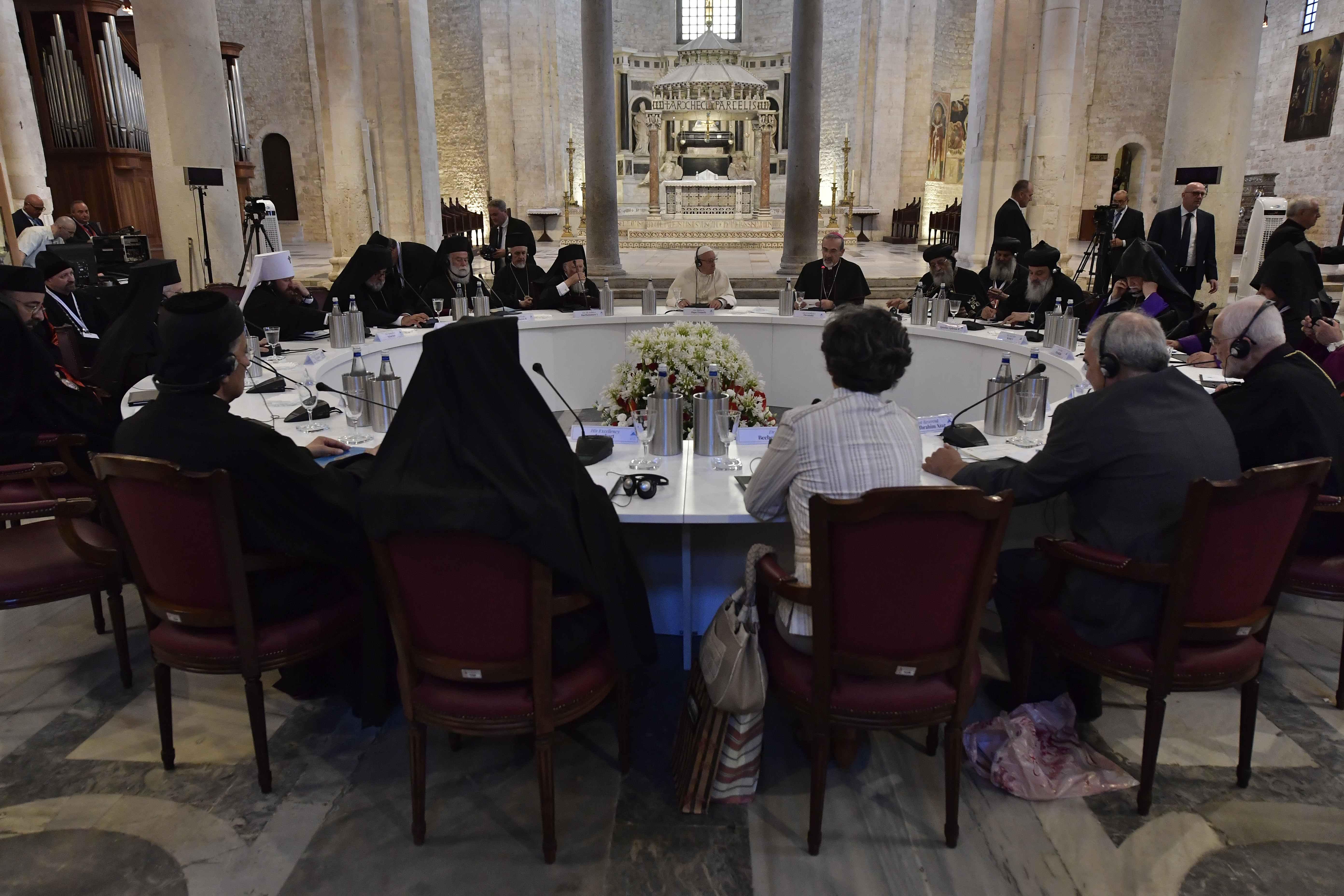 Réflexion pour la paix au Moyen-Orient Bari (Italie) 7/7/2018 © Vatican Media