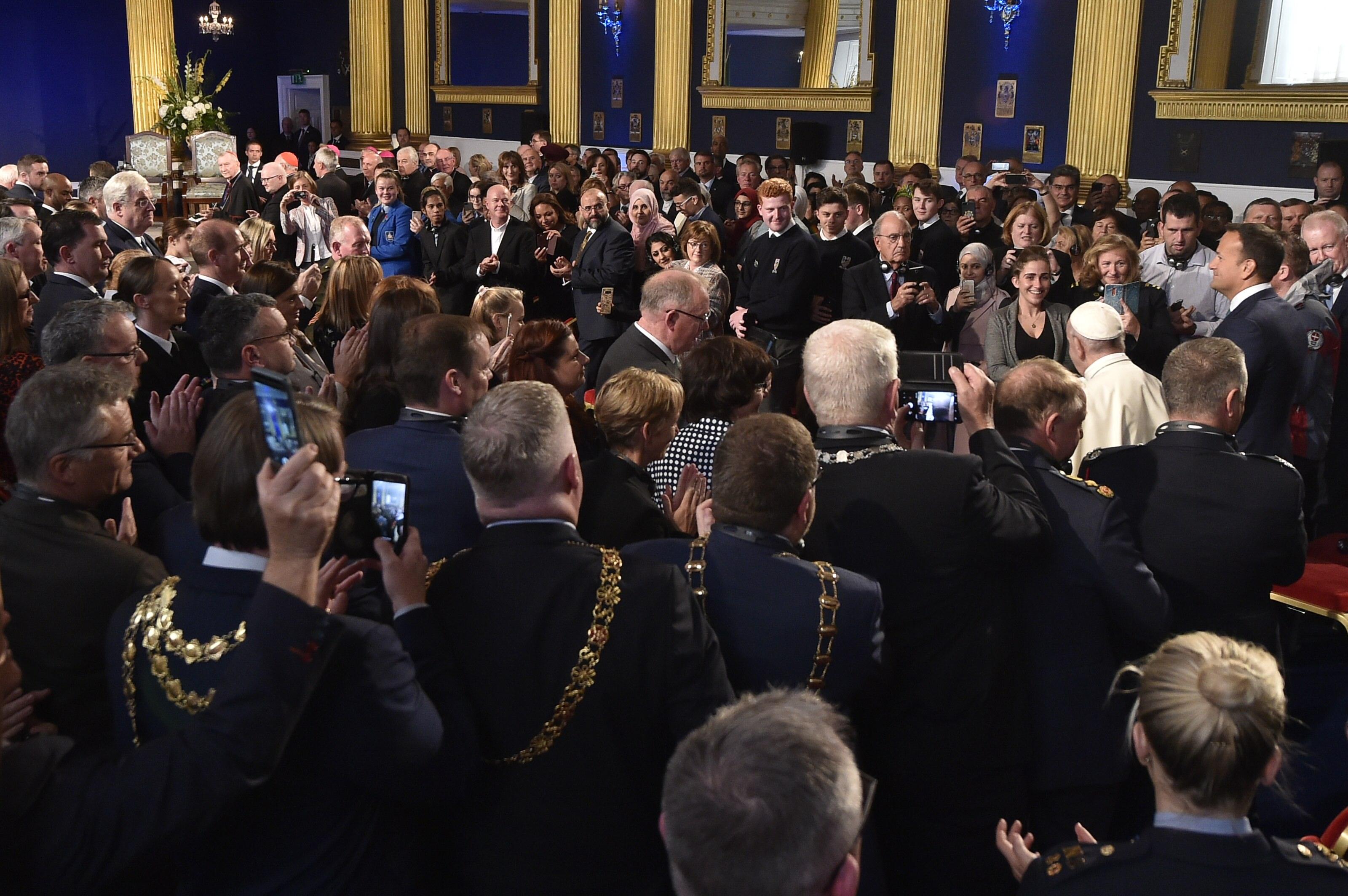 Rencontre avec les autorités d'Irlande, Dublin © Vatican Media