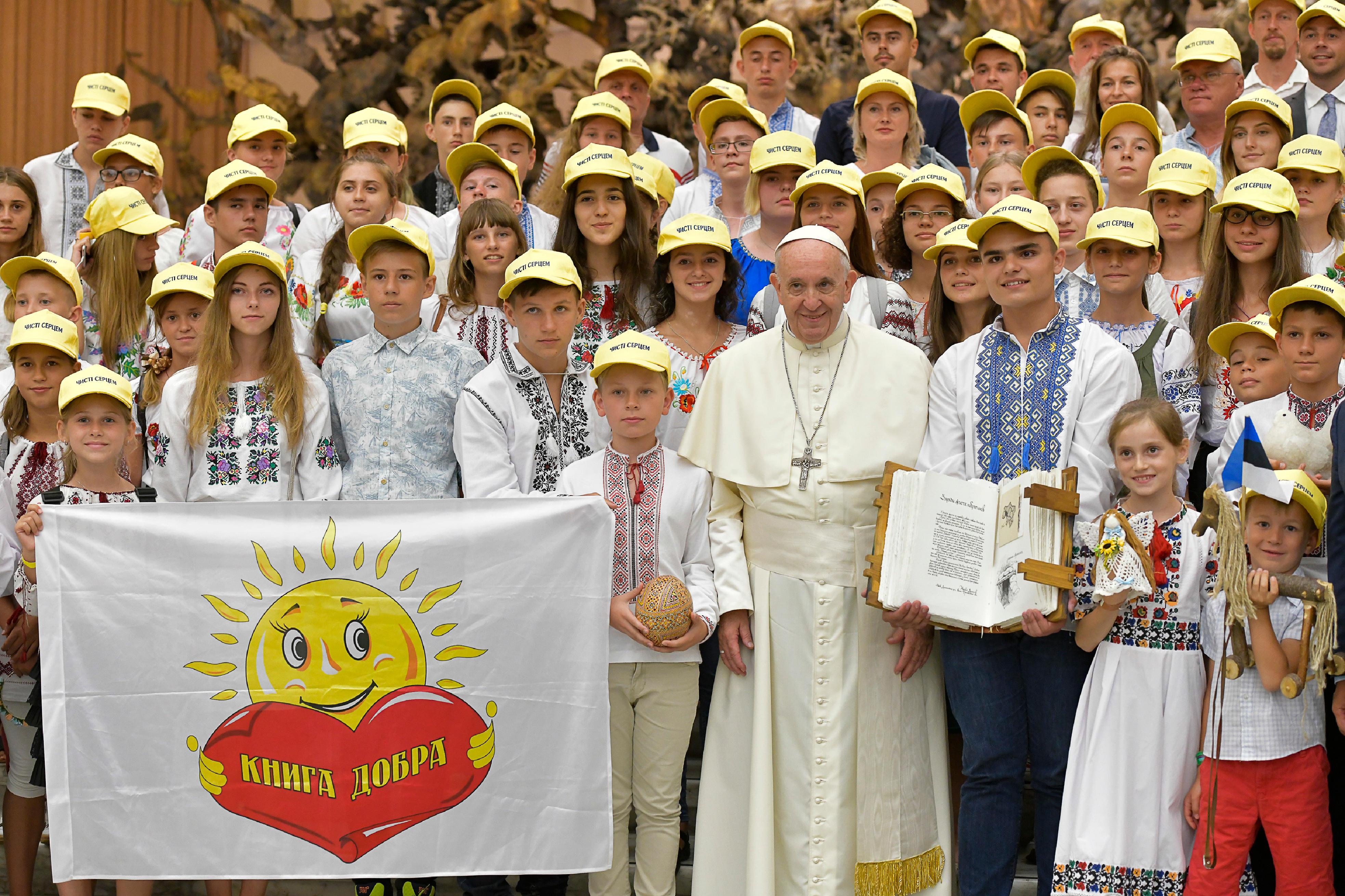 Jeunes d'Ukraine, audience du 8 août 2018 © Vatican Media