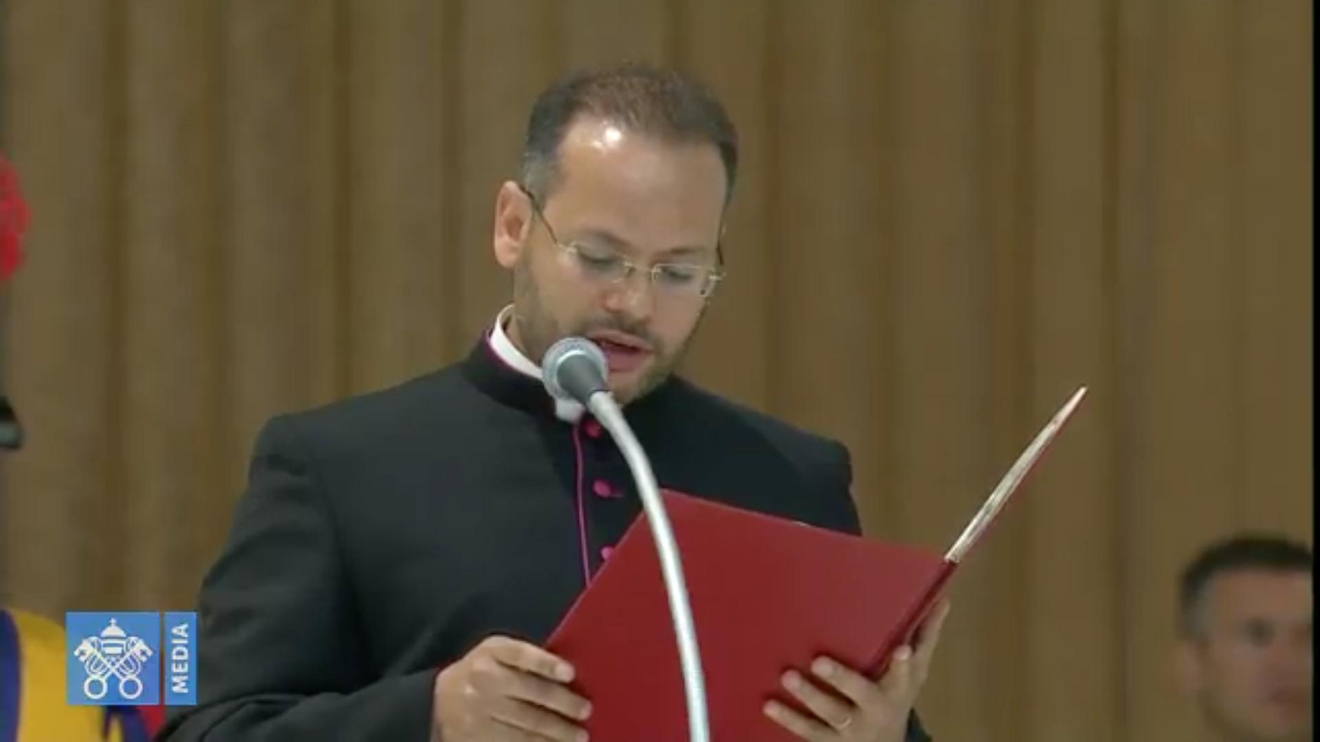 Mgr Yoannis Lahzi Gaid, audience du 8 août 2018 @ Vatican Media