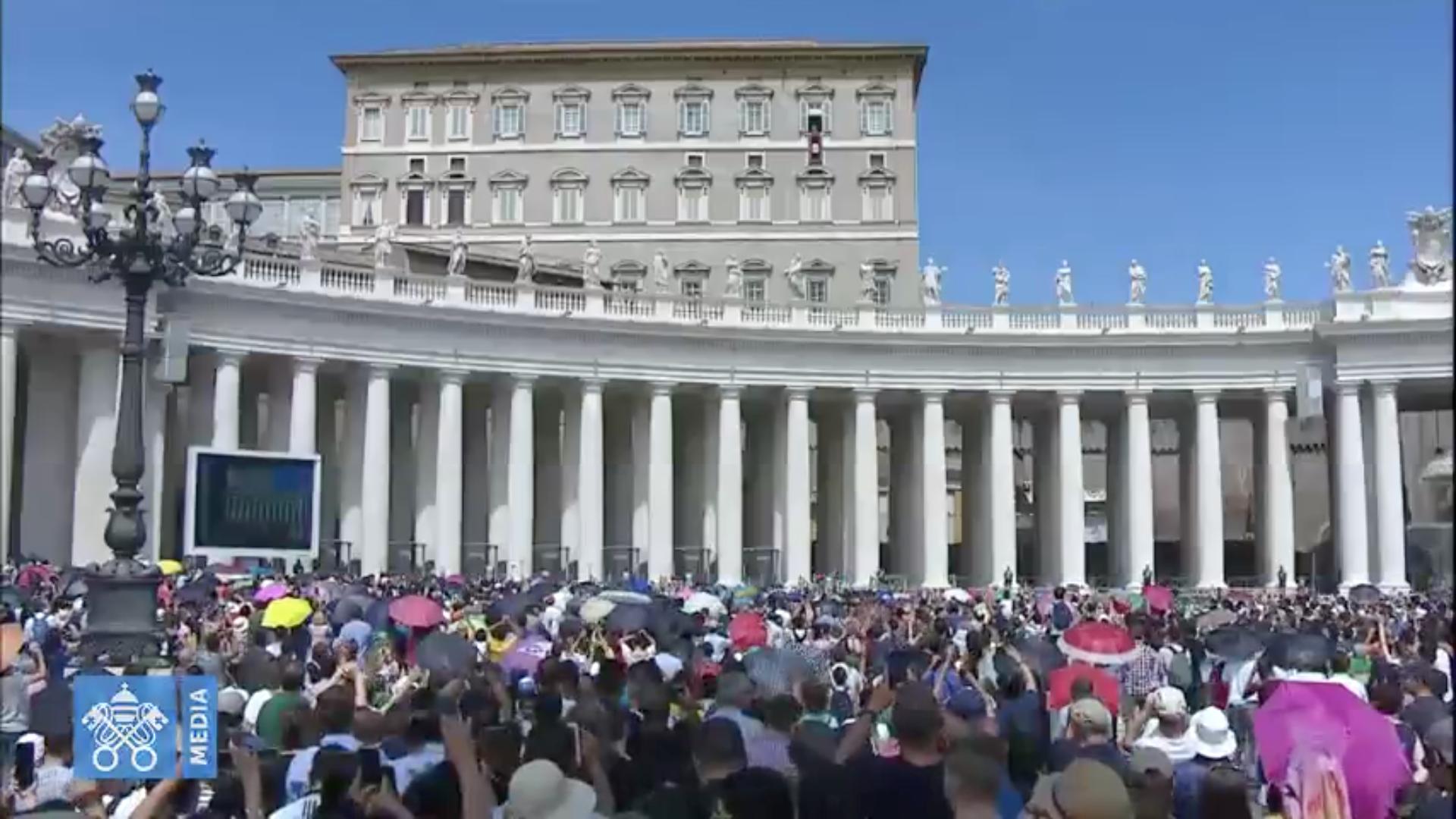 Angélus, 15 août 2018, capture @ Vatican Media