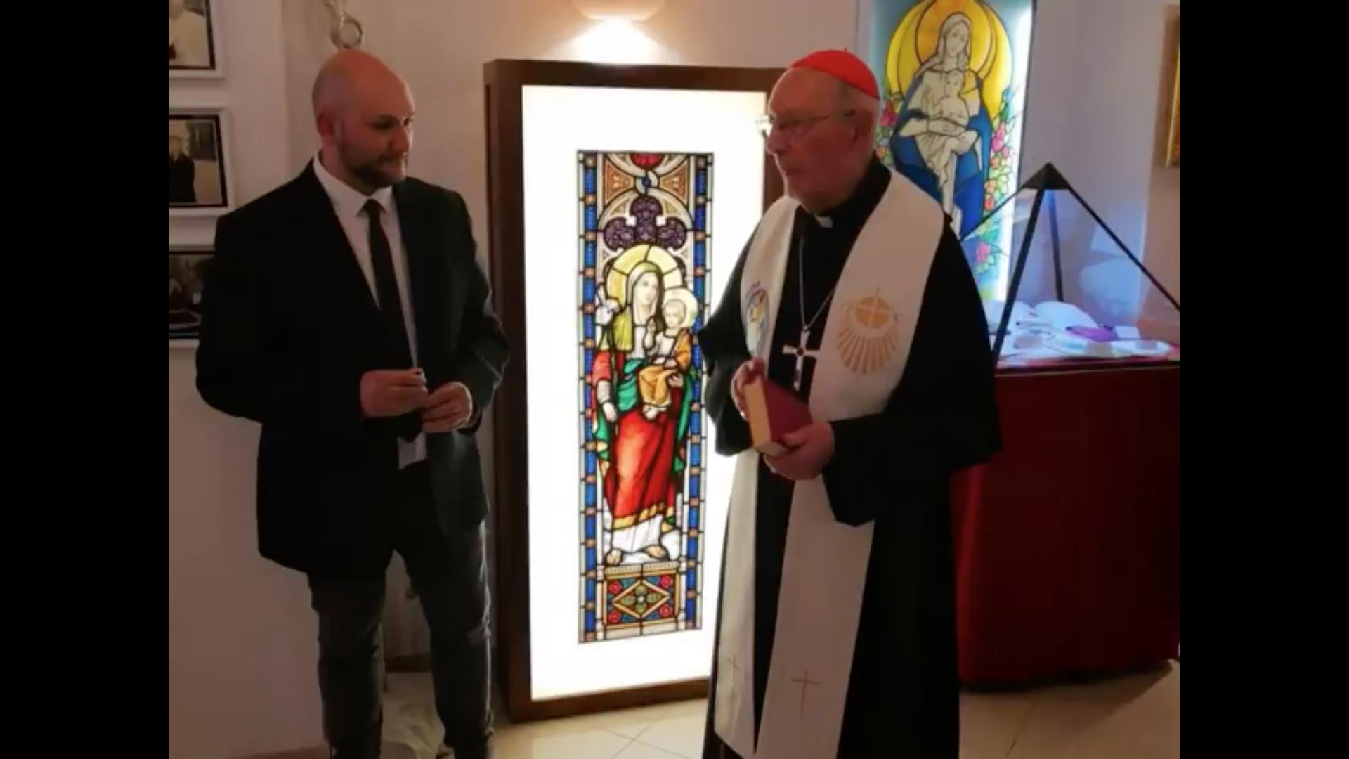 "Le card. Grech inaugure l'exposition ""Pontifex"", capture FB ""Il Museo dei Papi"""