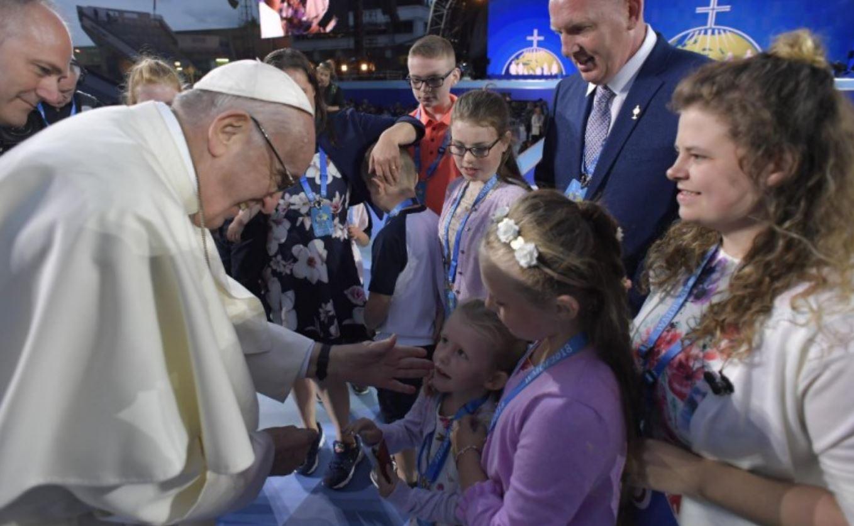 Famille d'Irlande, Festival des familles, Dublin © Vatican Media