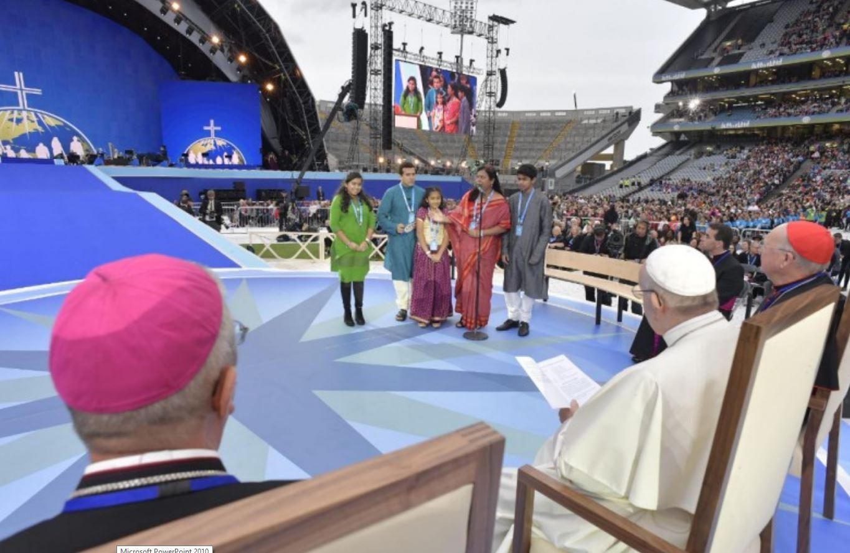 Famille indienne, Festival des familles, Dublin, Irlande © Vatican Media
