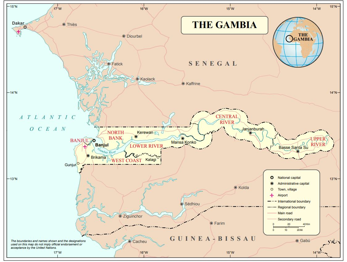 Gambie © United Nations Maps