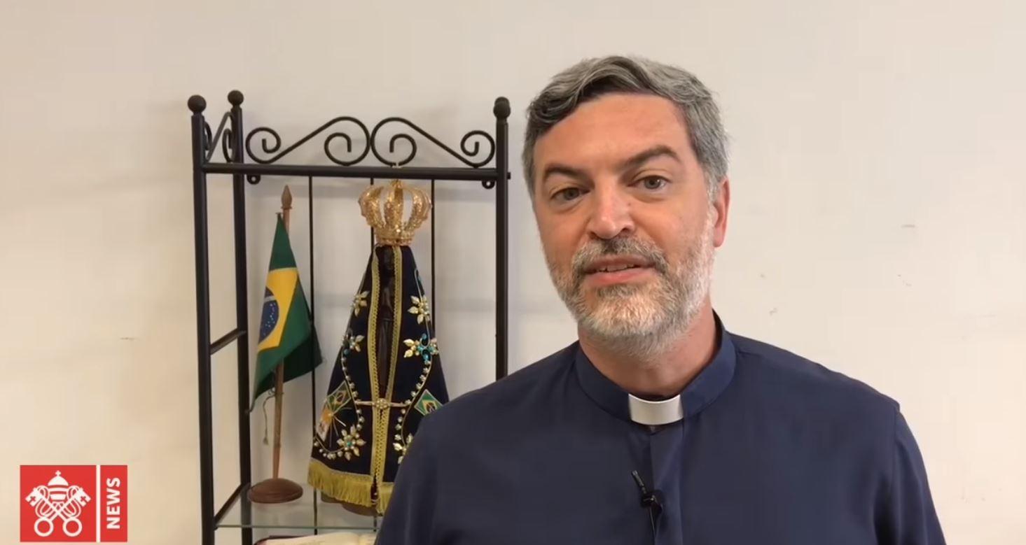 P. Alexandre Awi Mello, capture Vatican News