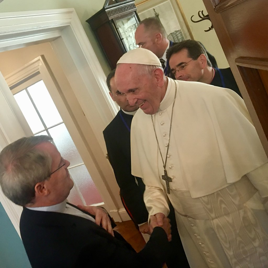 Rencontre avec les jésuites en Irlande © P. Antonio Spadaro SJ