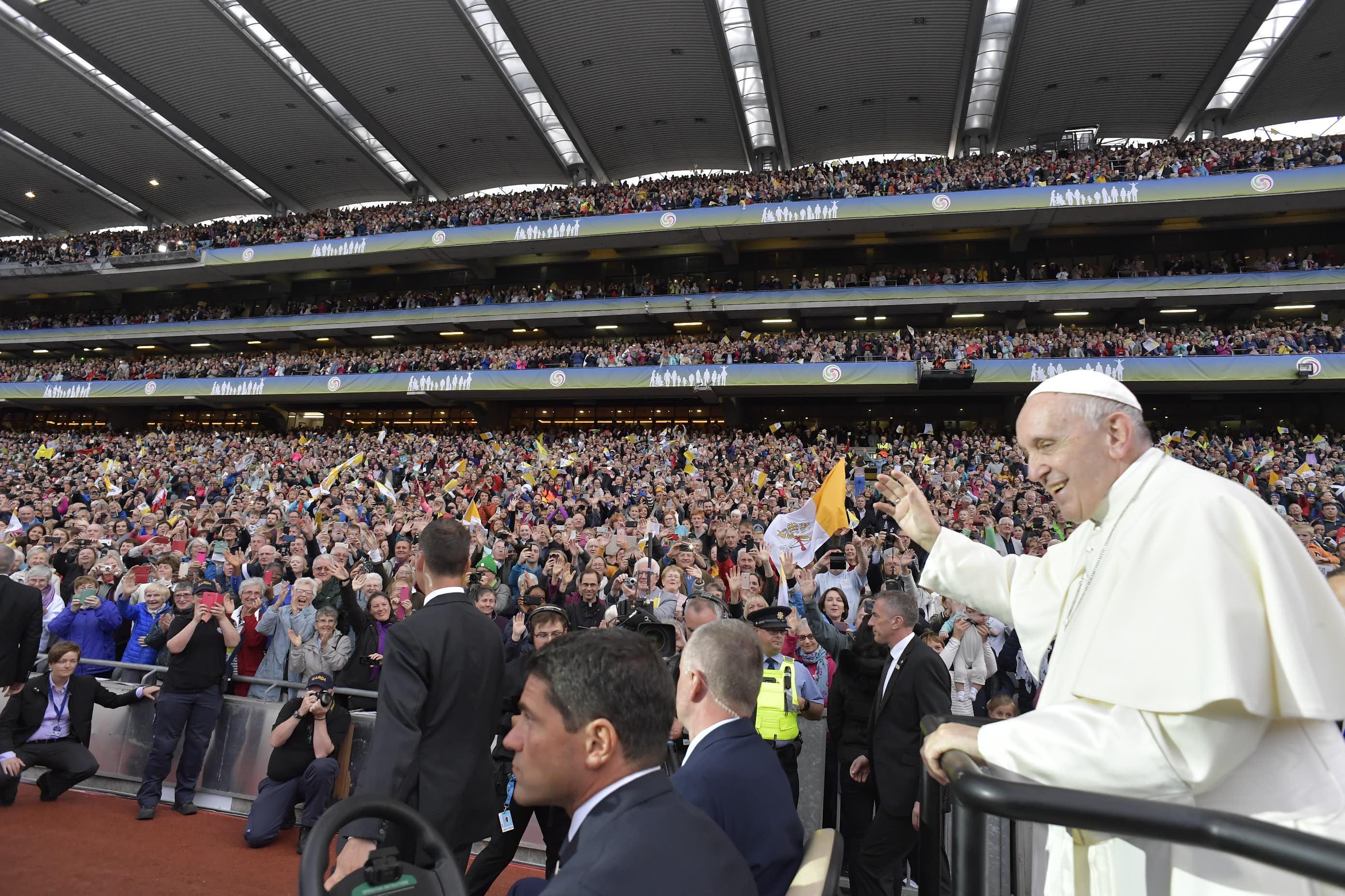Dublin2018, veillée des familles © Vatican Media