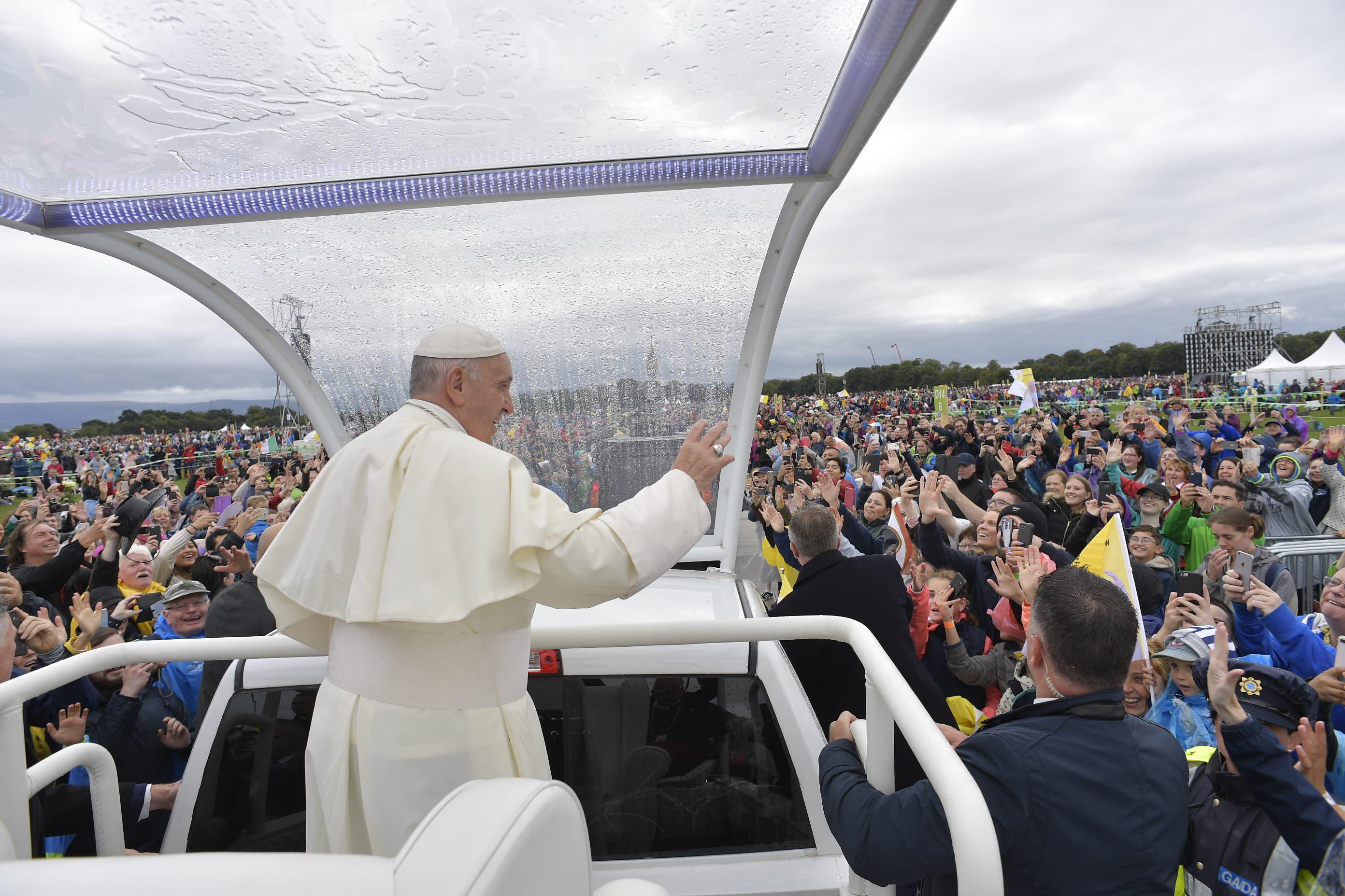 Messe au Phoenix Park, rencontre des familles de Dublin © Vatican Media