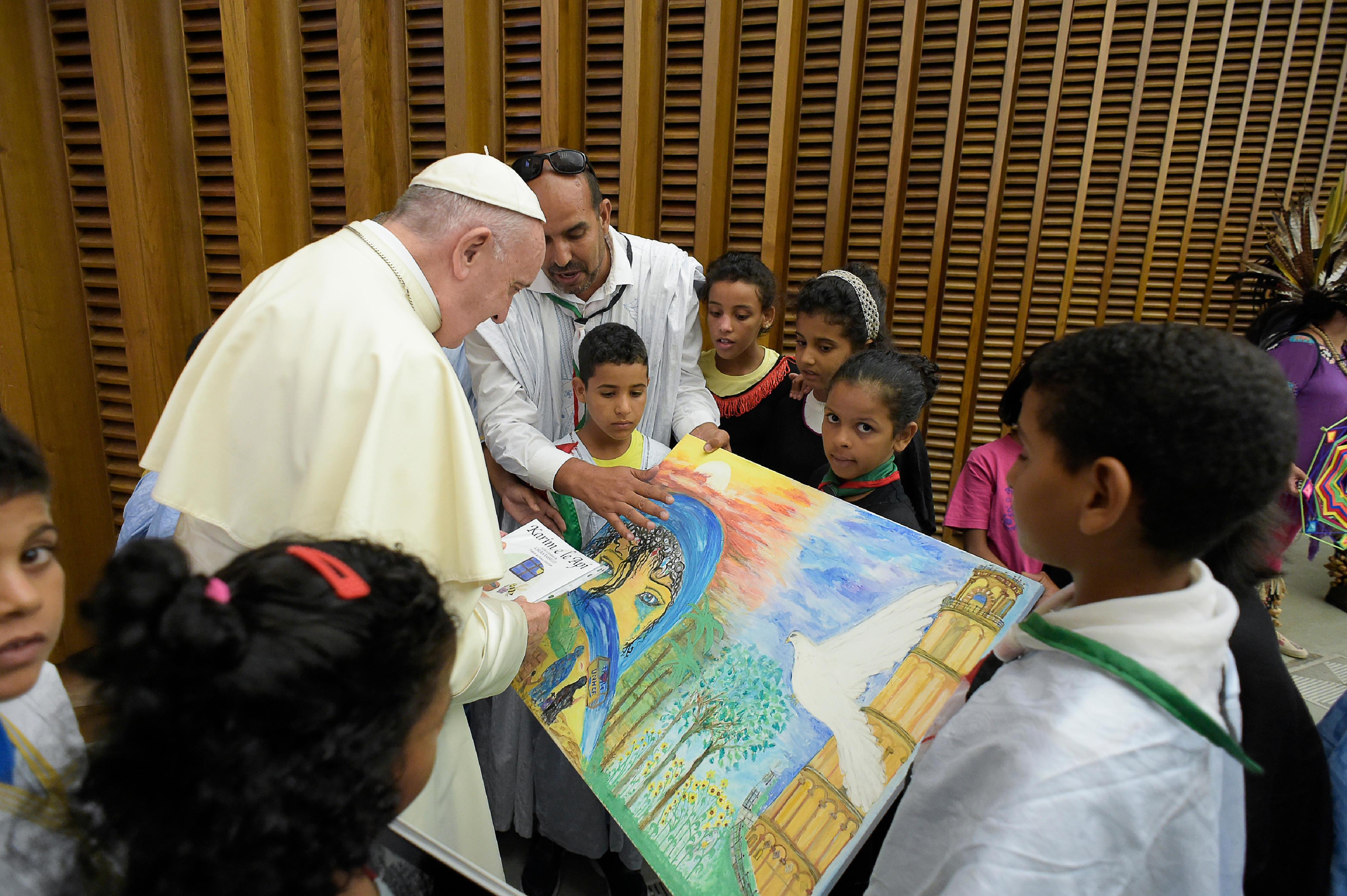 Enfants, audience du 8 août 2018 © Vatican Media