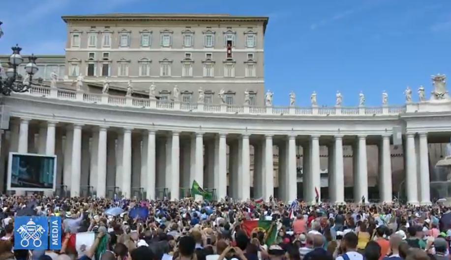 Angélus du 9 septembre 2018, capture Vatican Media