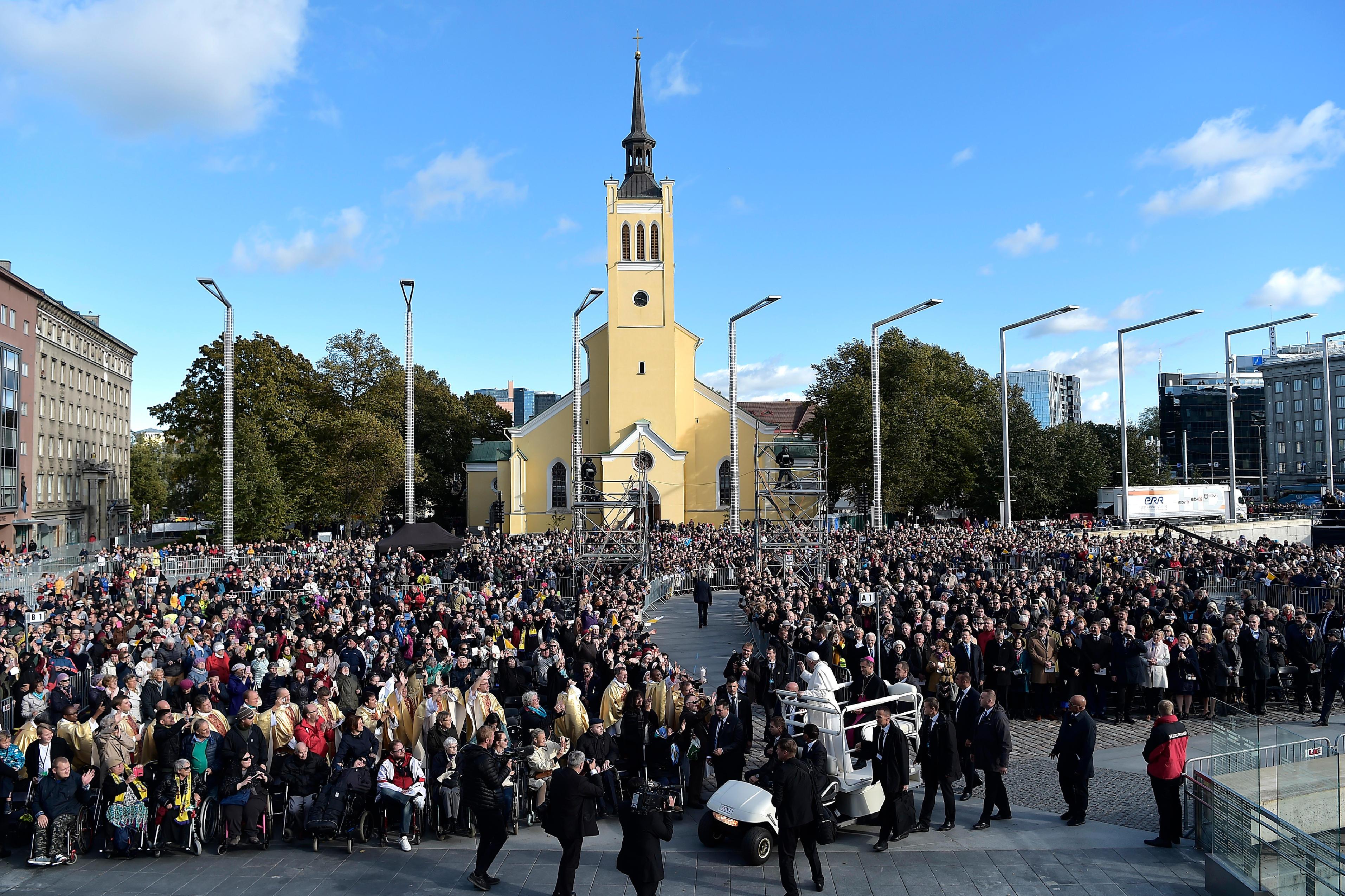 Place de la Liberté, Tallinn, Estonie © Vatican Media