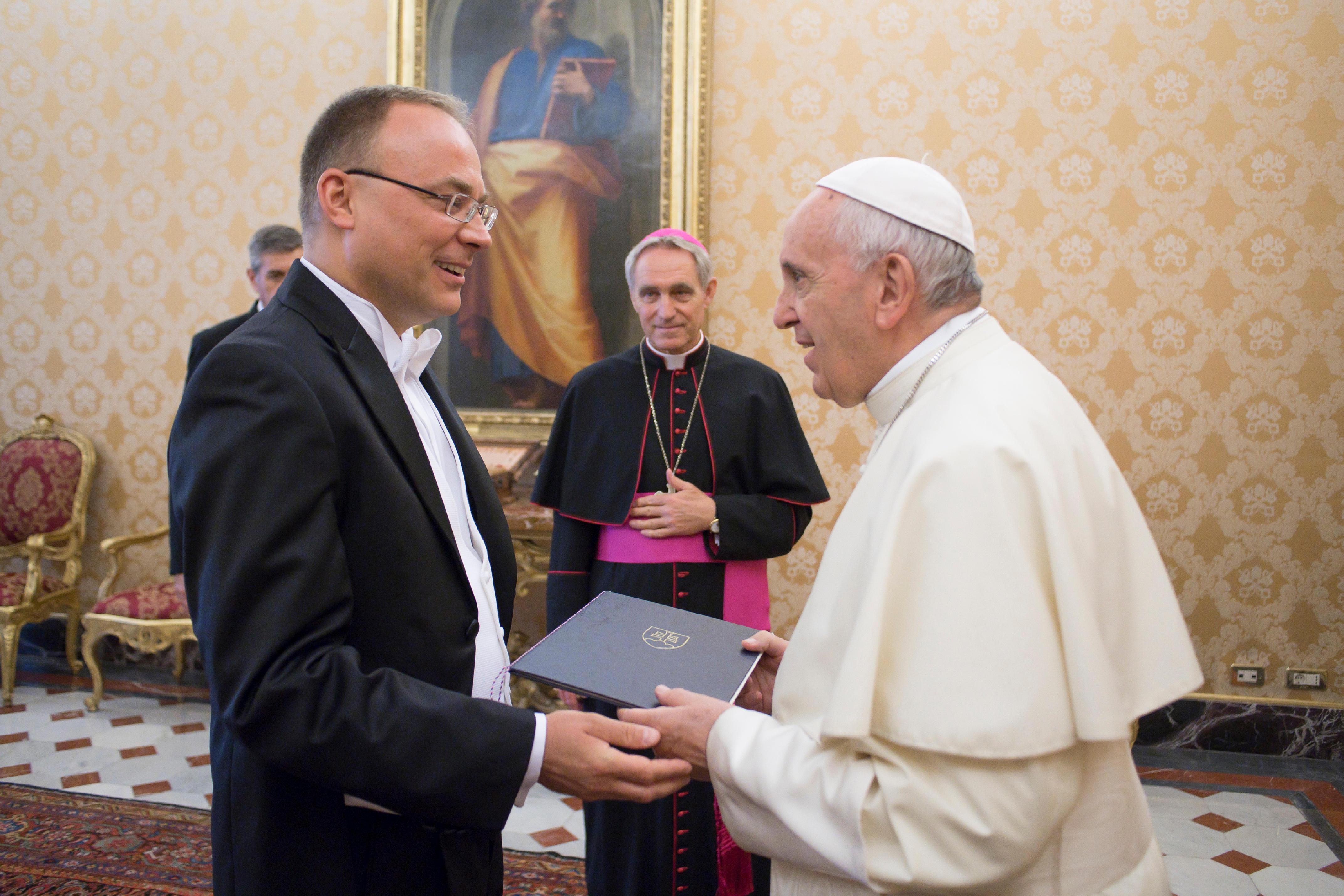 M. Marek Lisánsky, ambassadeur de Slovaquie 13 sept. 2018 © Vatican Media