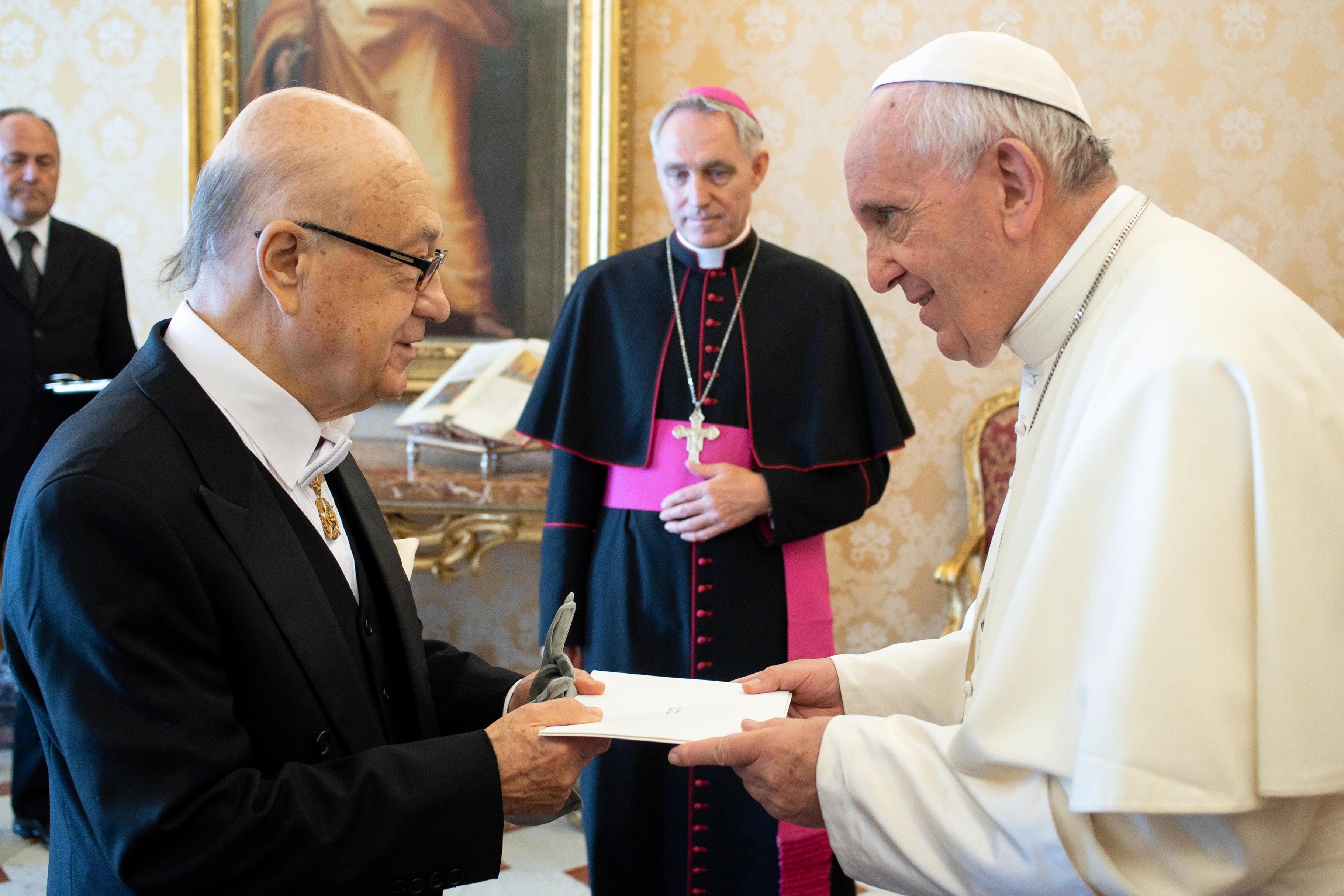 M. Octavio Errázuriz Guilisasti, ambassadeur du Chili, 17 sept. 2018 © Vatican Media