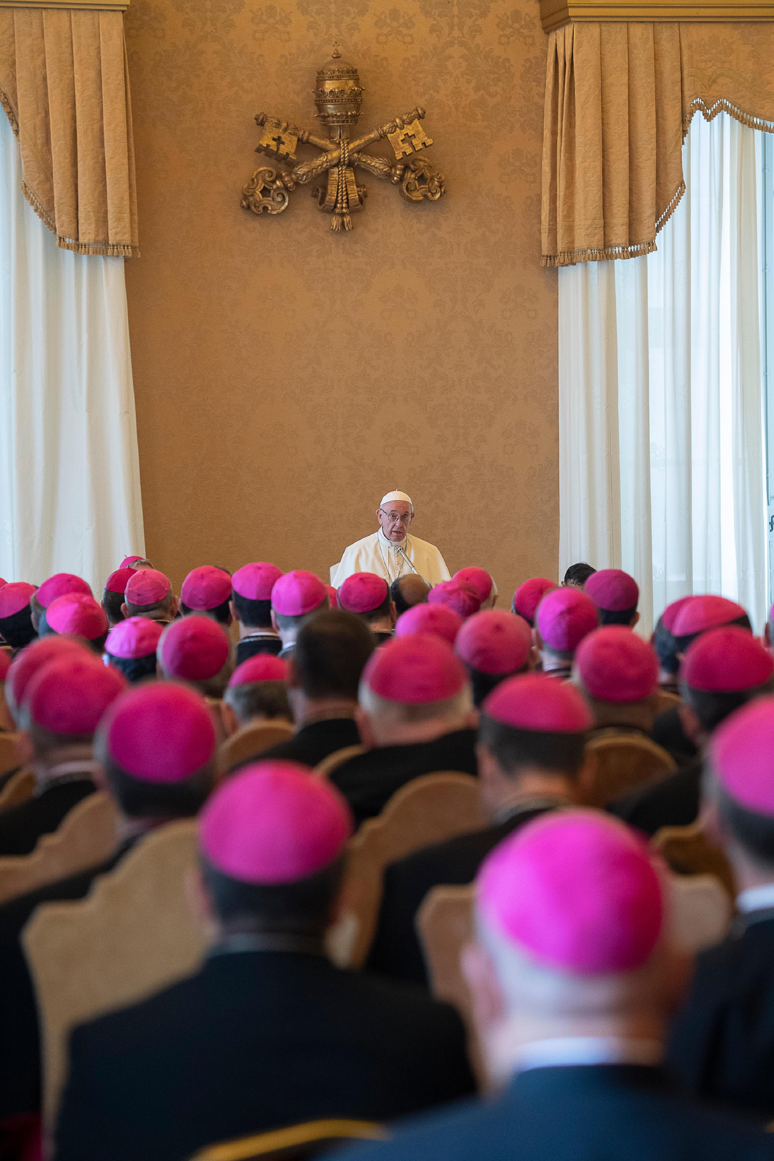 Evêques des Eglises orientales catholiques, 13 sept. 2018 © Vatican Media