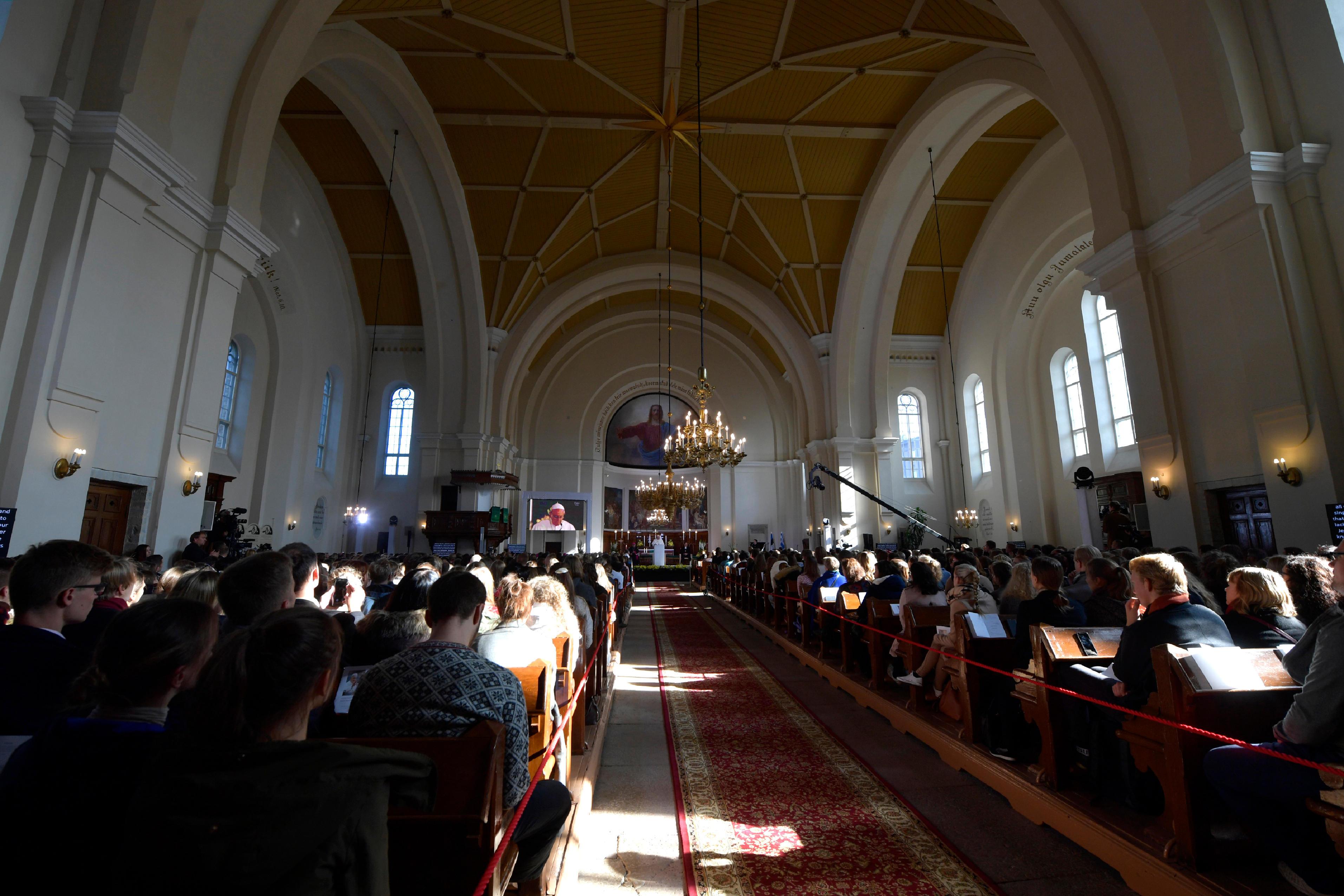 Rencontre oecuménique avec les jeunes Tallinn (Estonie) 25 sept. 2018 © Vatican News