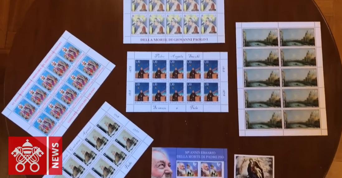 Nouveaux timbres du Vatican , capture Vatican News