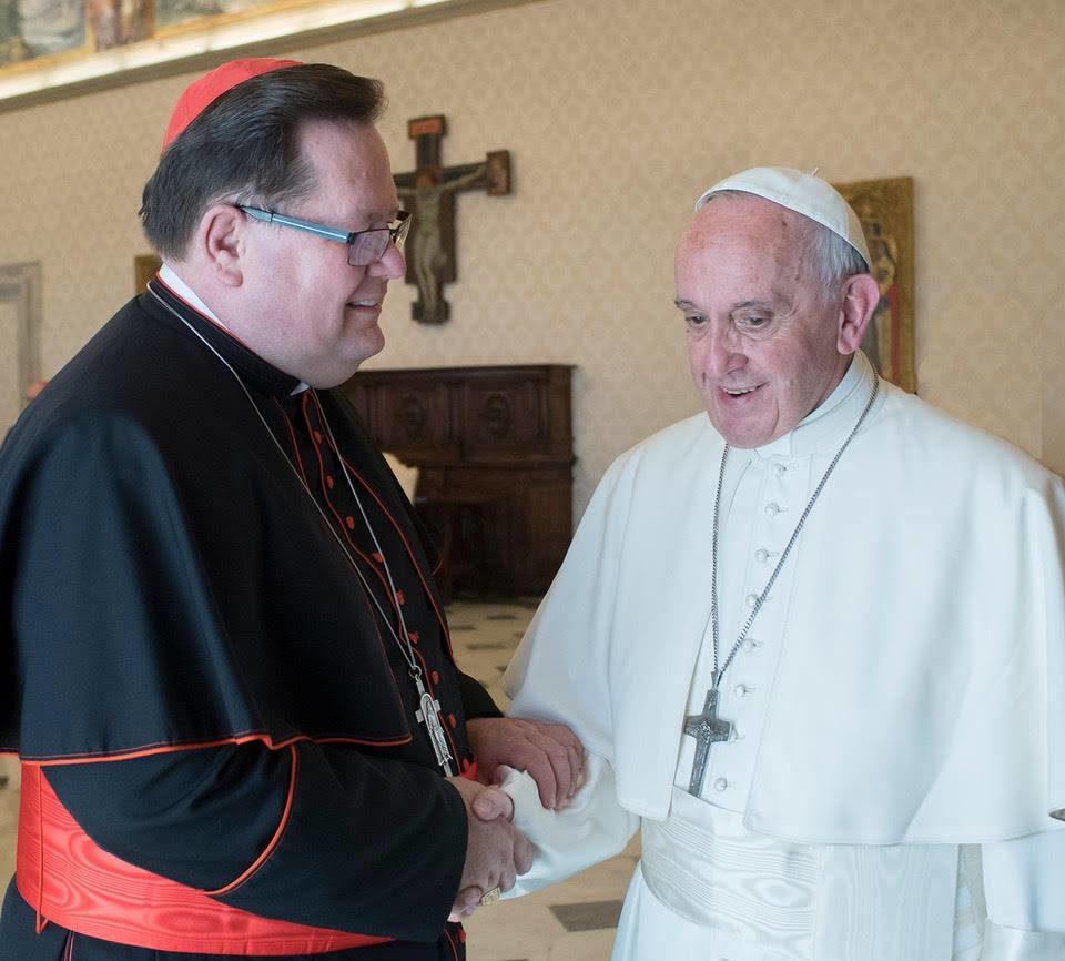 Photo prise en mai 2017 au Vatican @ FB du card. Lacroix