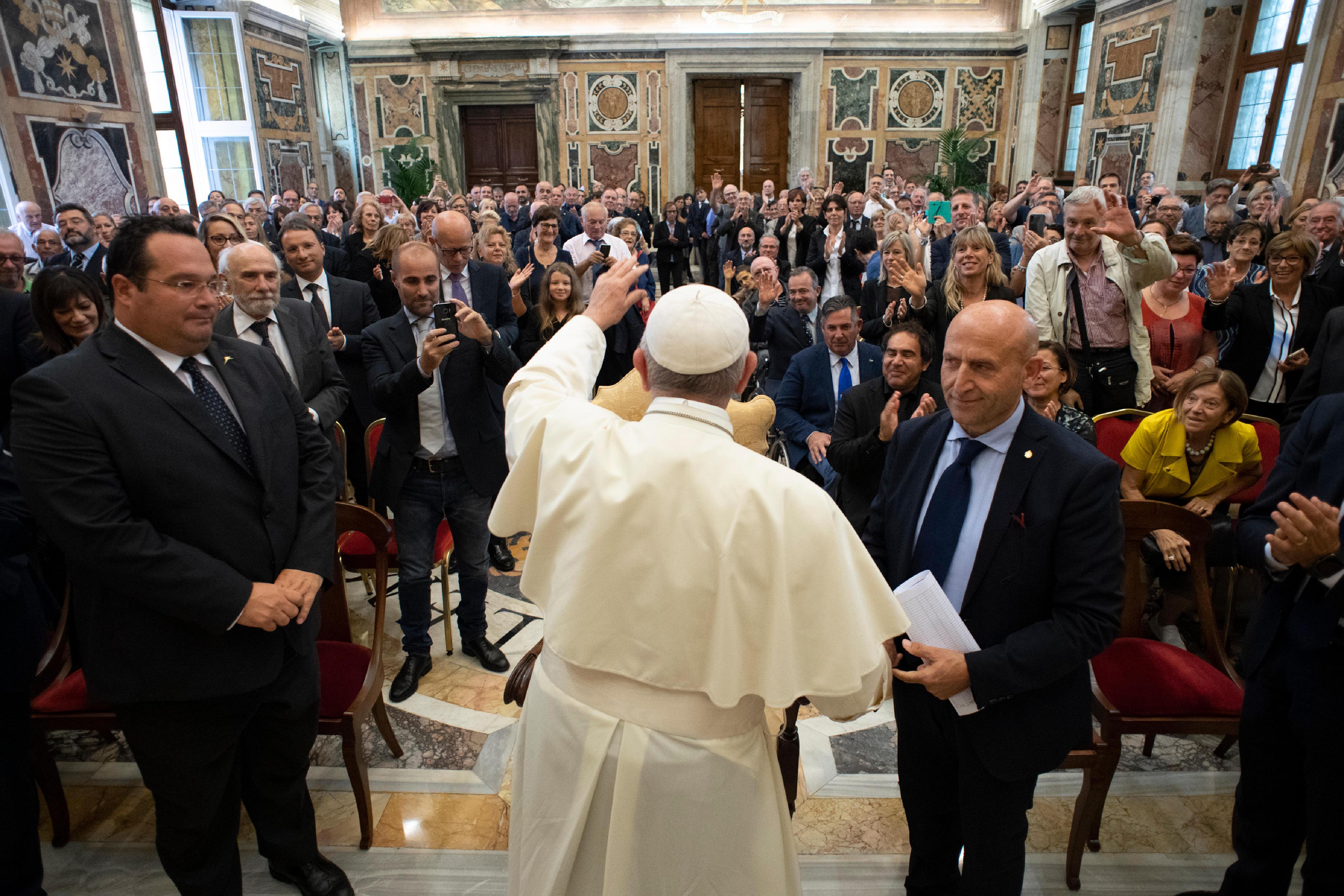 Association Nationale des travailleurs mutilés et invalides du travail © Vatican Media
